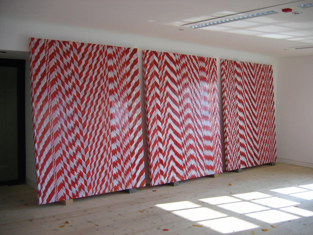 <span class=&#34;link fancybox-details-link&#34;><a href=&#34;/exhibitions/223/works/artworks295/&#34;>View Detail Page</a></span><div class=&#34;medium&#34;>Non-Adhesive Barrier Tape on Timber Frame</div> <div class=&#34;dimensions&#34;>190 x 246 cm<br />74 3/4 x 96 7/8 in</div>