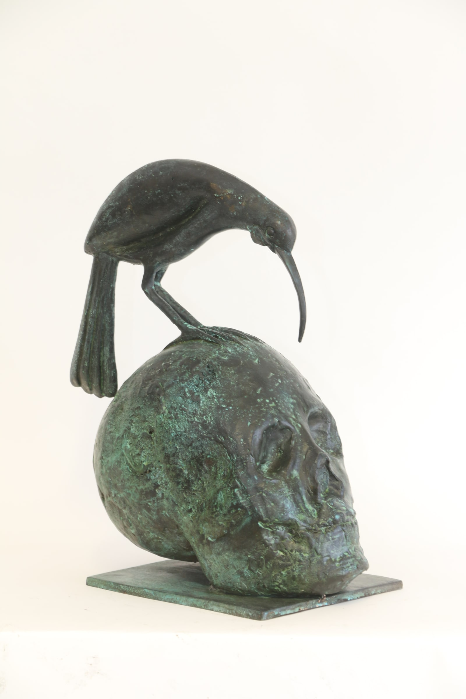 """<span class=""""link fancybox-details-link""""><a href=""""/exhibitions/14/works/artworks7172/"""">View Detail Page</a></span><div class=""""medium"""">Cast Patinated Bronze</div> <div class=""""dimensions"""">16.9 x 15.7 x 7.9 in<br />43 x 40 x 20 cm</div>"""