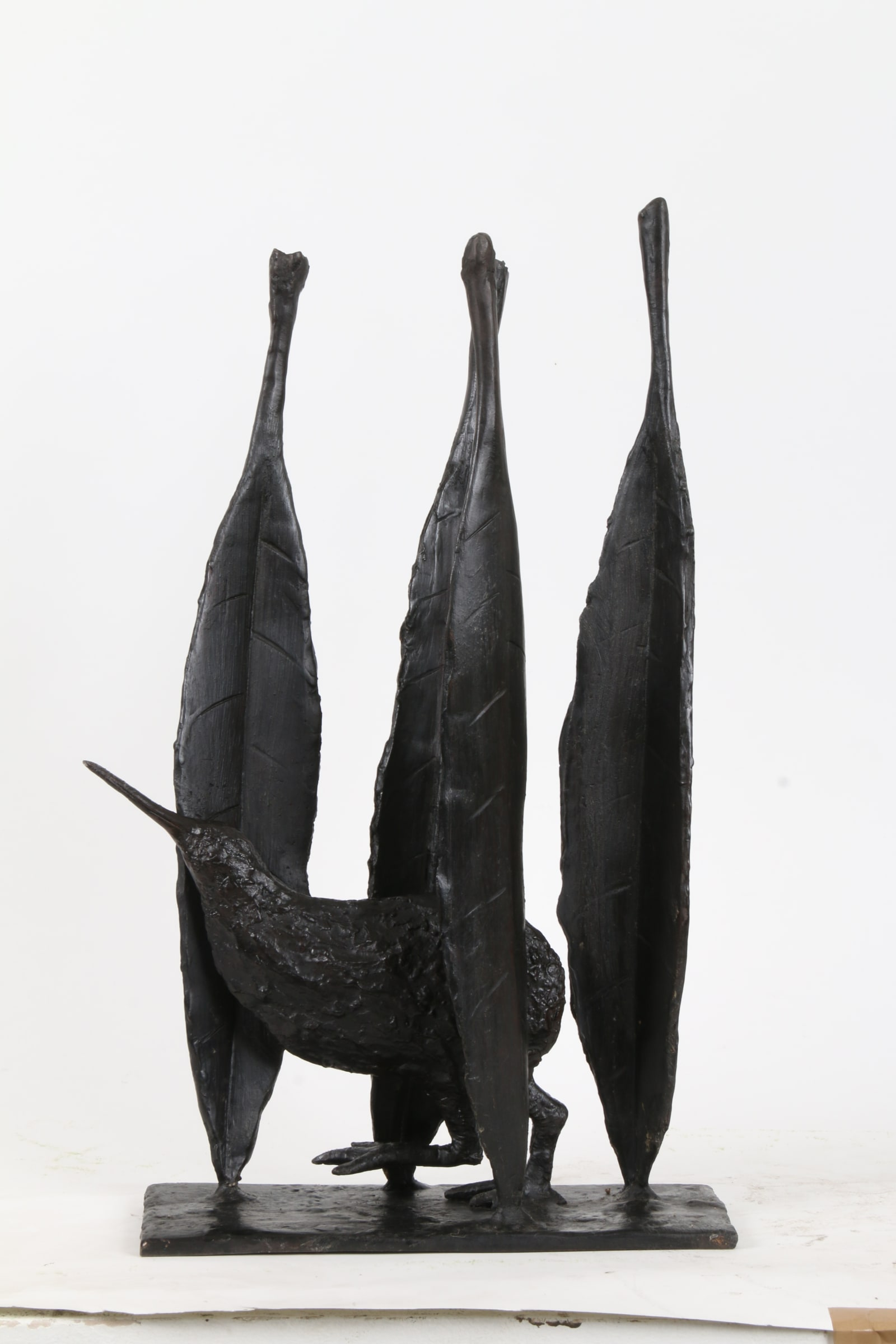 """<span class=""""link fancybox-details-link""""><a href=""""/exhibitions/44/works/artworks6238/"""">View Detail Page</a></span><div class=""""medium"""">Cast Patinated Bronze</div> <div class=""""dimensions"""">18.5 x 6.9 x 4.5 in<br />47 x 17.5 x 11.5 cm</div>"""