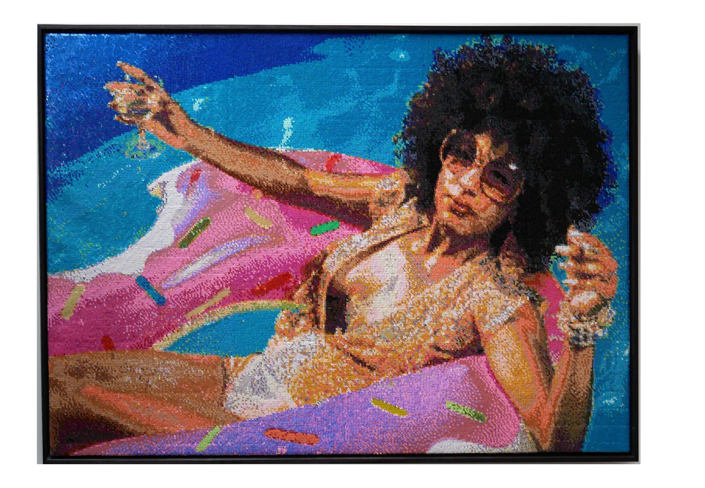 "<span class=""link fancybox-details-link""><a href=""/exhibitions/91/works/artworks10750/"">View Detail Page</a></span><div class=""artist""><strong>Frances GOODMAN</strong></div><div class=""title""><em>California Dreaming</em>, 2019</div><div class=""medium"">Handstitched sequins on canvas</div><div class=""dimensions"">106 x 158 x 7 cm<br>41 3/4 x 62 1/4 x 2 3/4 in</div>"