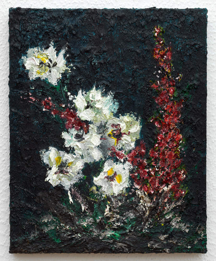 "<span class=""link fancybox-details-link""><a href=""/artists/56-ronald-ophuis/works/12198/"">View Detail Page</a></span><div class=""artist""><strong>Ronald OPHUIS</strong></div> <div class=""title""><em>Wild Flowers</em>, 2020</div> <div class=""medium"">Oil on canvas</div> <div class=""dimensions"">50 x 40 cm<br /> 19 3/4 x 15 3/4 in</div><div class=""copyright_line"">Copyright The Artist</div>"