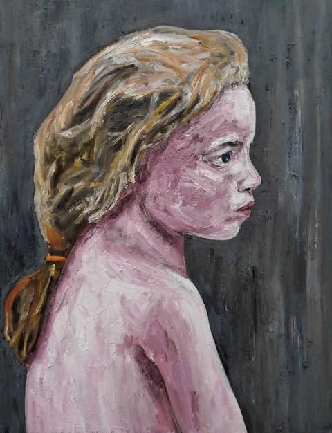 "<span class=""link fancybox-details-link""><a href=""/artists/56-ronald-ophuis/works/4873/"">View Detail Page</a></span><div class=""artist""><strong>Ronald OPHUIS</strong></div> <div class=""title""><em>Girl/Beslan</em>, 2011</div> <div class=""medium"">oil on canvas</div> <div class=""dimensions"">65 x 50 cm<br /> 25 5/8 x 19 3/4 in</div><div class=""copyright_line"">Copyright the artist </div>"