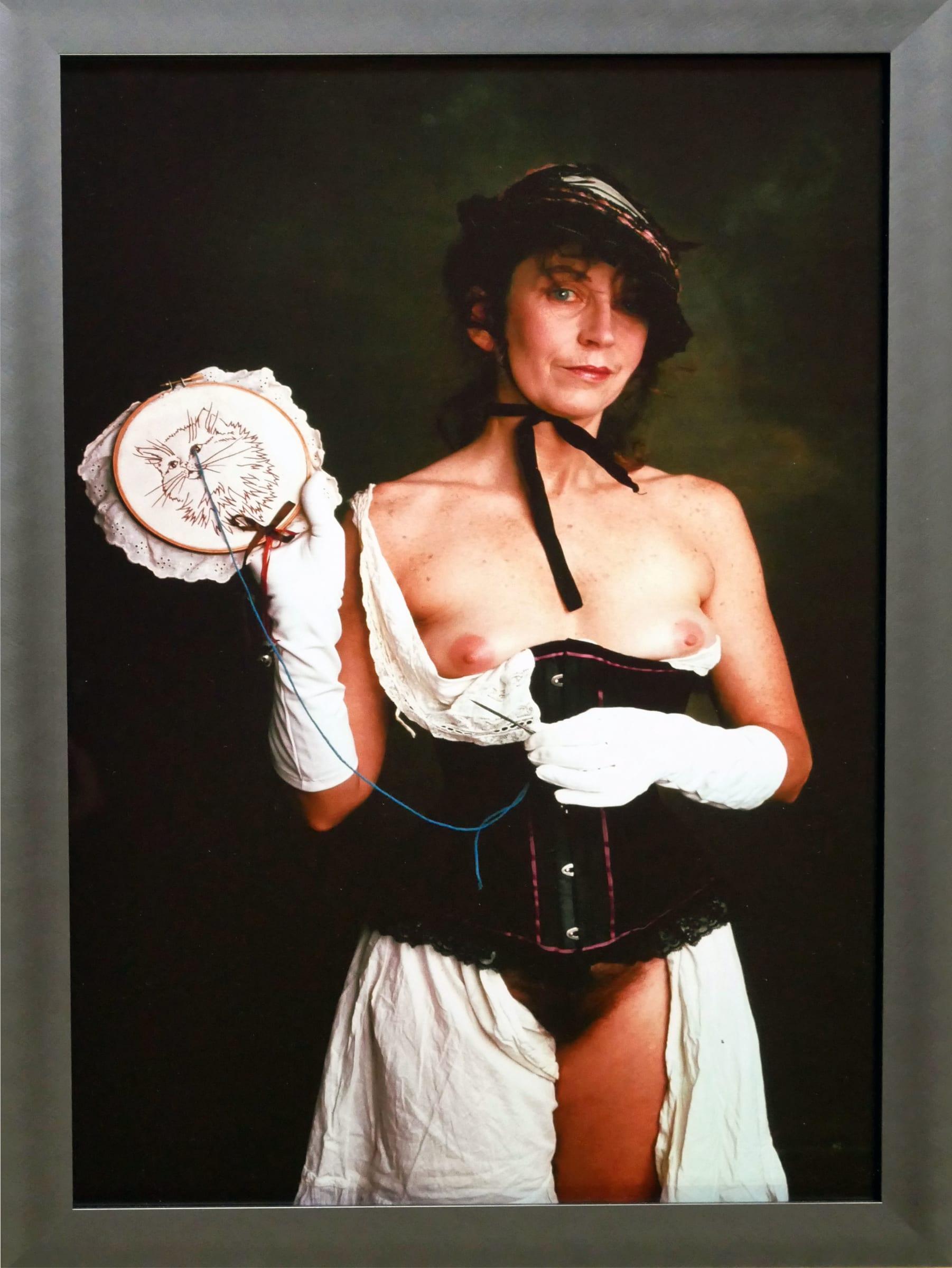 "<span class=""link fancybox-details-link""><a href=""/artists/113-annie-sprinkle/works/1587/"">View Detail Page</a></span><div class=""artist""><strong>Annie SPRINKLE</strong></div> <div class=""title""><em>15 sluts and goddesses inside Linda Montano</em>, 1998</div> <div class=""medium"">15 cibachrome framed photographs</div> <div class=""dimensions"">40 x 30 cm<br /> 15 3/4 x 11 3/4 in</div> <div class=""edition_details"">Edition of 10</div><div class=""copyright_line"">Copyright the artist </div>"