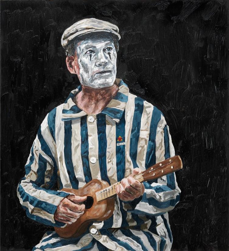 """<span class=""""link fancybox-details-link""""><a href=""""/artists/56-ronald-ophuis/works/8233/"""">View Detail Page</a></span><div class=""""artist""""><strong>Ronald OPHUIS</strong></div> <div class=""""title""""><em>Teatro la Tregua (Clown + Flowers), Poland</em>, 2016</div> <div class=""""dimensions"""">60 x 55 cm<br /> 23 5/8 x 20 7/8 in</div><div class=""""copyright_line"""">Copyright the artist</div>"""