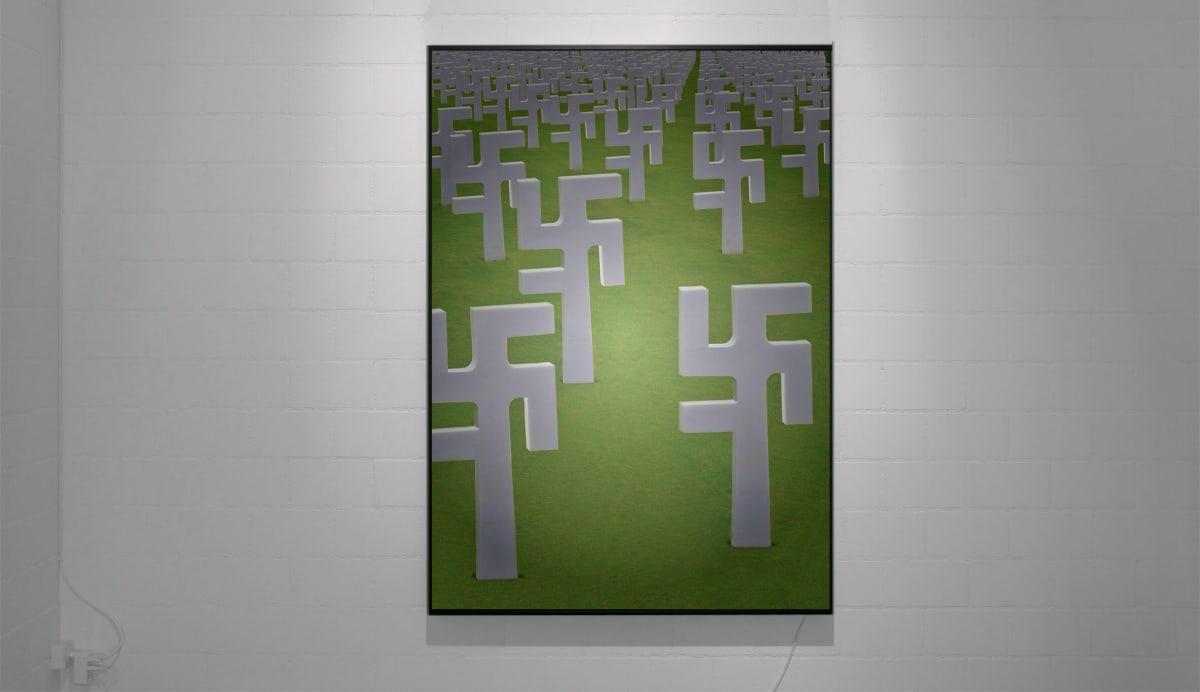 "<span class=""link fancybox-details-link""><a href=""/artists/44-robert-gligorov/works/7474/"">View Detail Page</a></span><div class=""artist""><strong>Robert GLIGOROV</strong></div> <div class=""title""><em>Let's twist</em>, 2015</div> <div class=""medium"">fujitrans print on black aluminium lightbox</div> <div class=""dimensions"">180 x 120 x 9 cm<br /> 70 7/8 x 47 1/4 x 3 1/2 in</div> <div class=""edition_details"">3+1AP</div>"