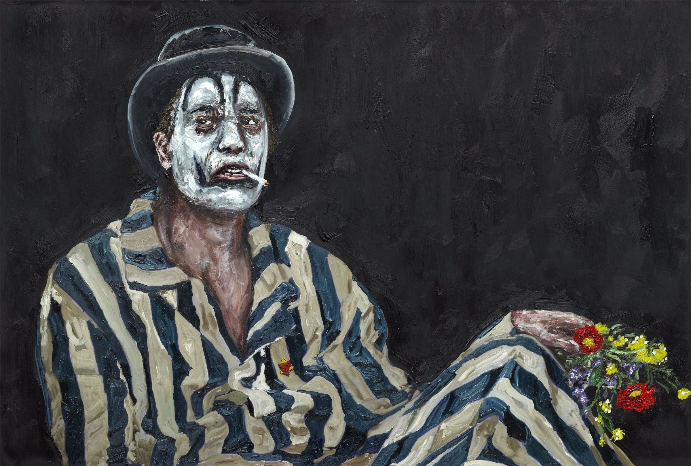 "<span class=""link fancybox-details-link""><a href=""/artists/56-ronald-ophuis/works/8354/"">View Detail Page</a></span><div class=""artist""><strong>Ronald OPHUIS</strong></div> <div class=""title""><em>Teatro la Tregua, Poland July 1945</em>, 2015</div> <div class=""medium"">Oil on canvas</div> <div class=""dimensions"">45 x 60 cm<br /> 17 3/4 x 23 5/8 in</div><div class=""copyright_line"">Copyright the artist</div>"