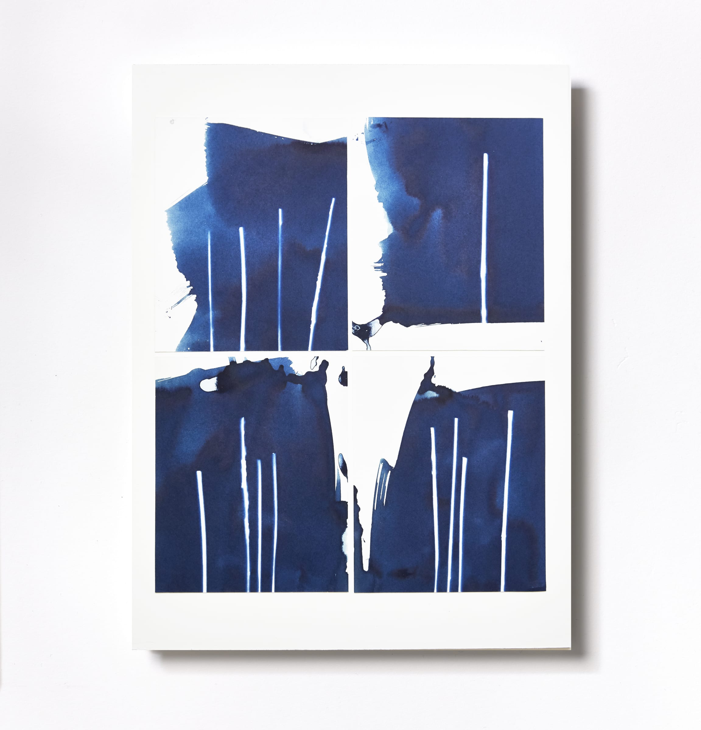 "<span class=""link fancybox-details-link""><a href=""/content/feature/119/artworks544/"">View Detail Page</a></span><div class=""medium"">Cyanotype Collage of four hand-painted 5"" x 4"" cyanotype photograms on a 12 x 9 inch 8-ply museum board.<br /> Print only<br /> Unique</div> <div class=""dimensions"">30.5 x 22.9 cm<br /> 12 x 9 in</div>"