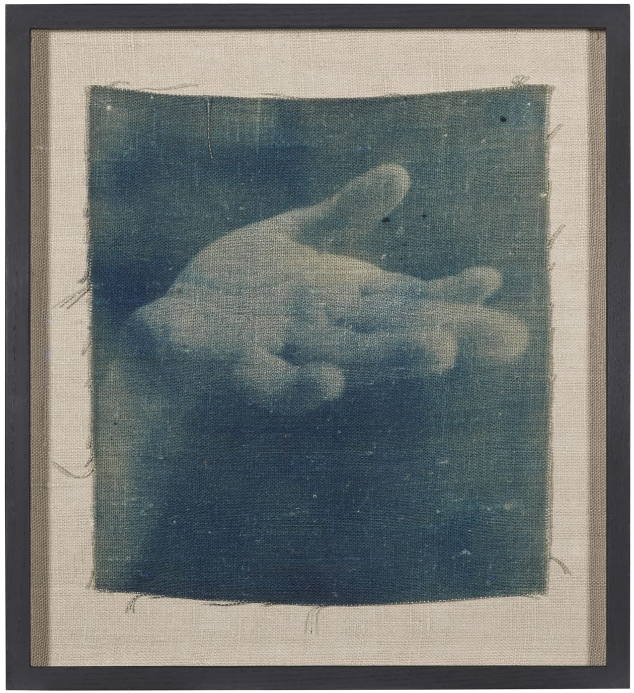 "<span class=""link fancybox-details-link""><a href=""/content/feature/154/artworks246/"">View Detail Page</a></span><div class=""medium"">Cyanotype on linen<br /> Framed<br /> Unique</div> <div class=""dimensions"">30.8 x 27.8 cm<br /> 12 1/8 x 11 in</div> <div class=""edition_details"">Unique</div>"