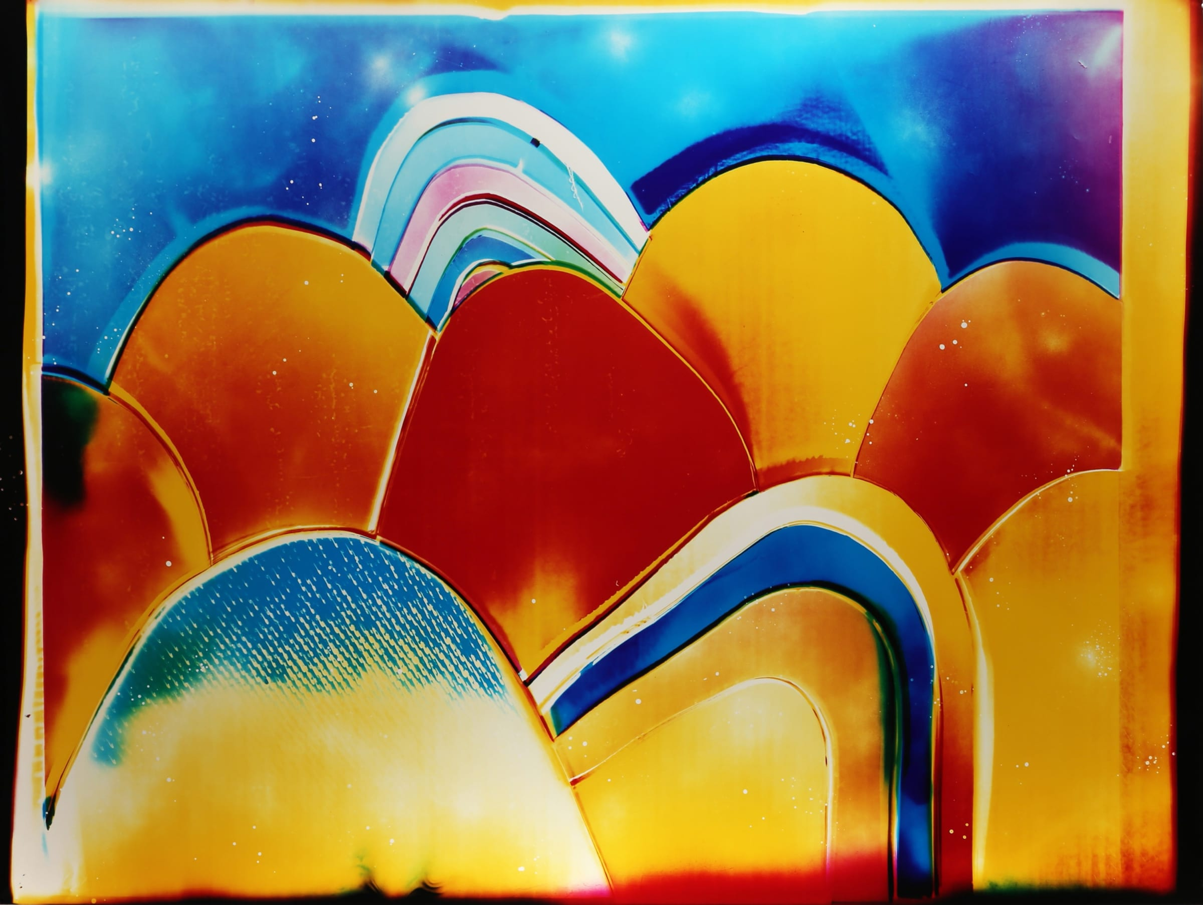 "<span class=""link fancybox-details-link""><a href=""/exhibitions/11/works/artworks141/"">View Detail Page</a></span><div class=""artist""><strong>Liz Nielsen</strong></div><div class=""title""><em>Sun Hills</em>, 2018</div><div class=""signed_and_dated"">Signed, titled and dated on artist's label</div><div class=""medium"">Analogue Chromogenic Photogram on Fujiflex, Unique</div><div class=""dimensions"">127 x 172.7 cm<br>50 x 68 in</div>"
