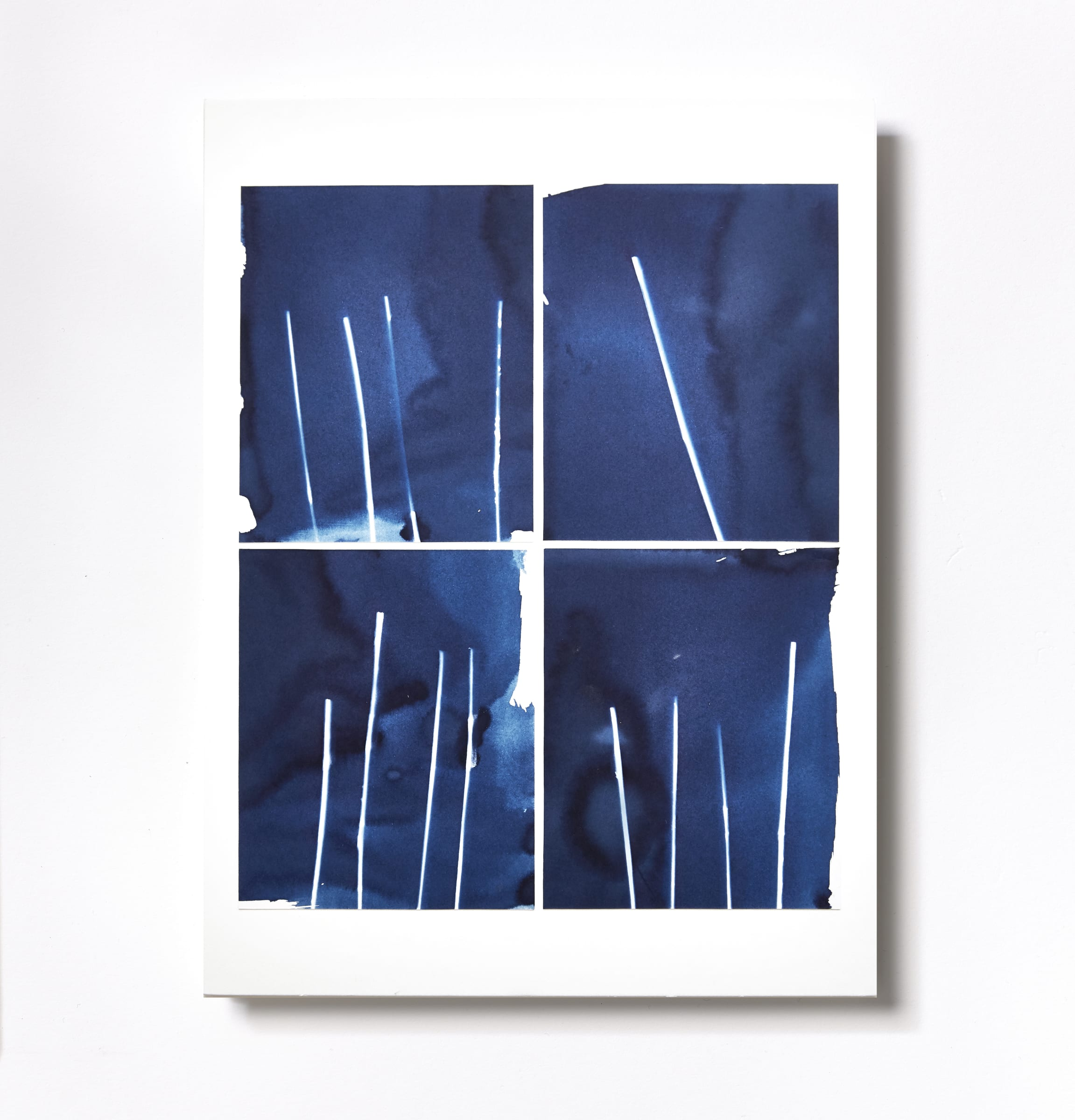 "<span class=""link fancybox-details-link""><a href=""/content/feature/119/artworks545/"">View Detail Page</a></span><div class=""medium"">Cyanotype Collage of four hand-painted 5"" x 4"" cyanotype photograms on a 12 x 9 inch 8-ply museum board.<br /> Print only<br /> Unique</div> <div class=""dimensions"">30.5 x 22.9 cm<br /> 12 x 9 in</div>"