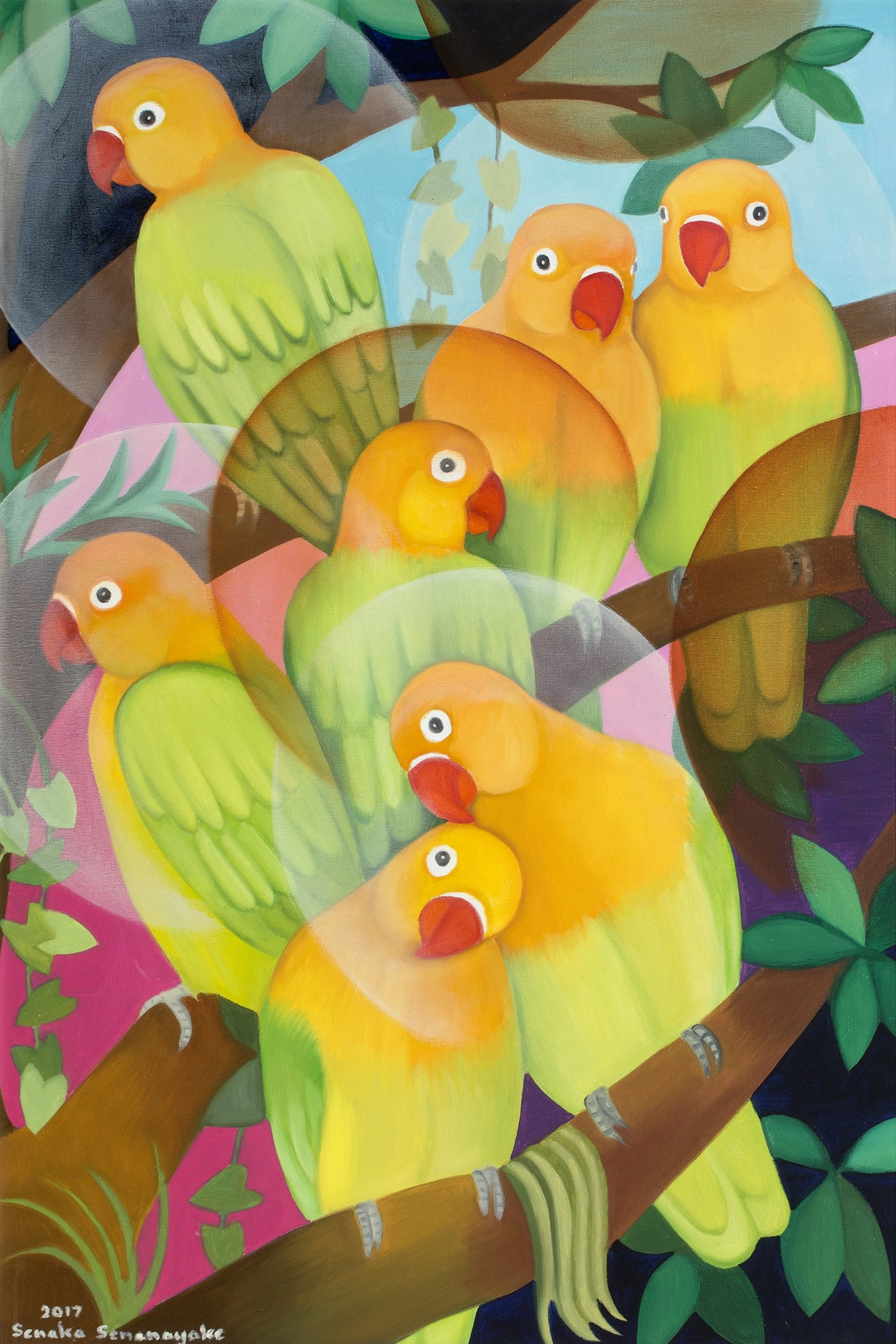Senaka Senanayake Lovebirds 2017 Grosvenor Gallery