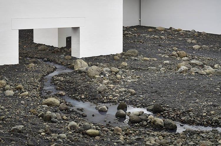 "<span class=""link fancybox-details-link""><a href=""/artists/132-olafur-eliasson/works/15204/"">View Detail Page</a></span><div class=""artist""><strong>ÓLAFUR ELÍASSON</strong></div> <div class=""title""><em>Riverbed</em>, 2014</div> <div class=""medium"">water, Icelandic rock (volcanic stones [blue basalt, basalt, lava], other stones, gravel, sand), wood, steel, plastic sheeting, hose, pumps, cooling unit</div> <div class=""dimensions"">Installation at Louisiana Museum of Art, Humblebaek, Denmark, 20 August 2014 - 4 January 2015</div>"