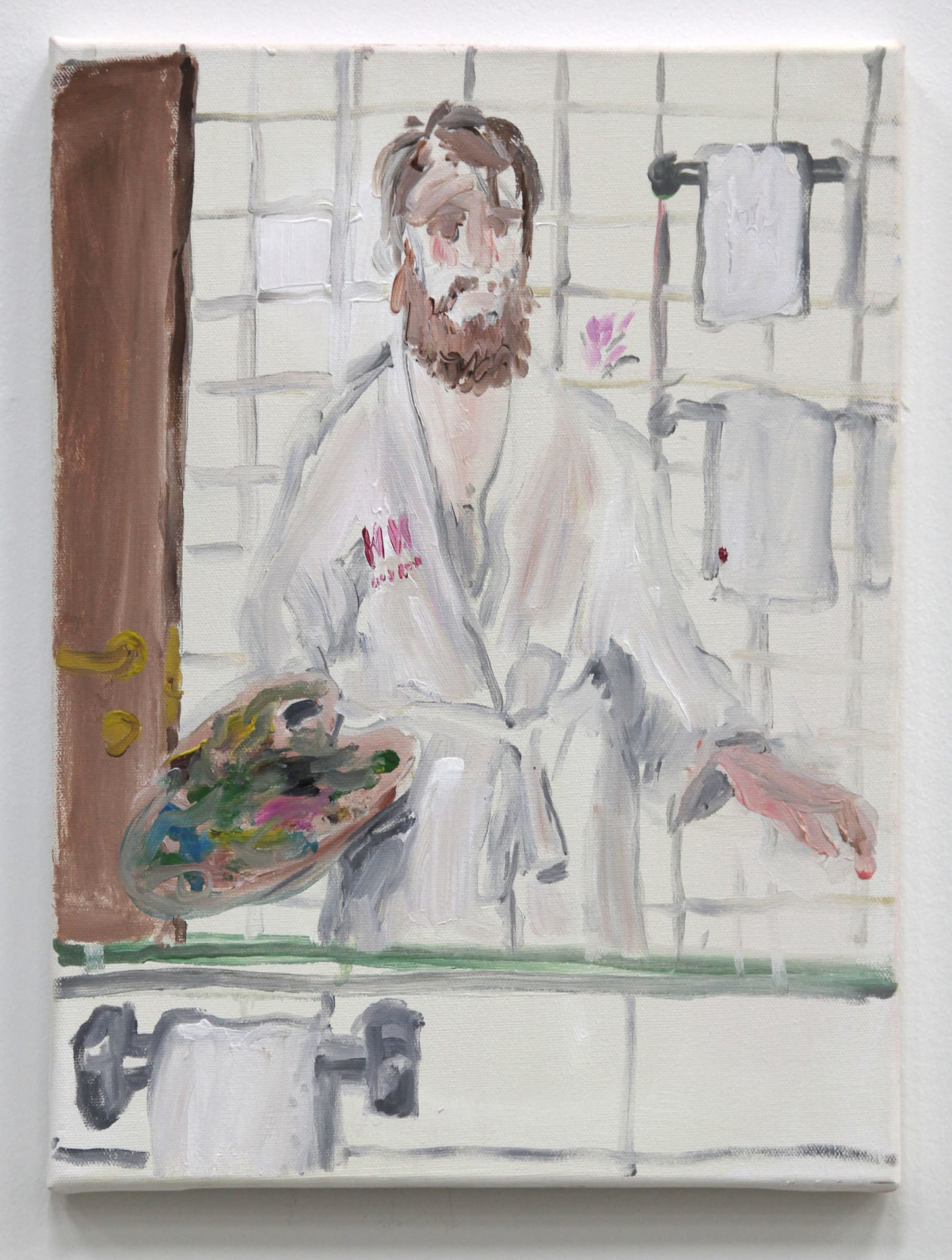 "<span class=""link fancybox-details-link""><a href=""/artists/35-ragnar-kjartansson/works/9239/"">View Detail Page</a></span><div class=""artist""><strong>RAGNAR KJARTANSSON</strong></div> <div class=""title""><em>Reflection from room 413</em>, 2013</div> <div class=""medium"">oil on canvas</div> <div class=""dimensions"">39 x 30 x 2 cm</div>"
