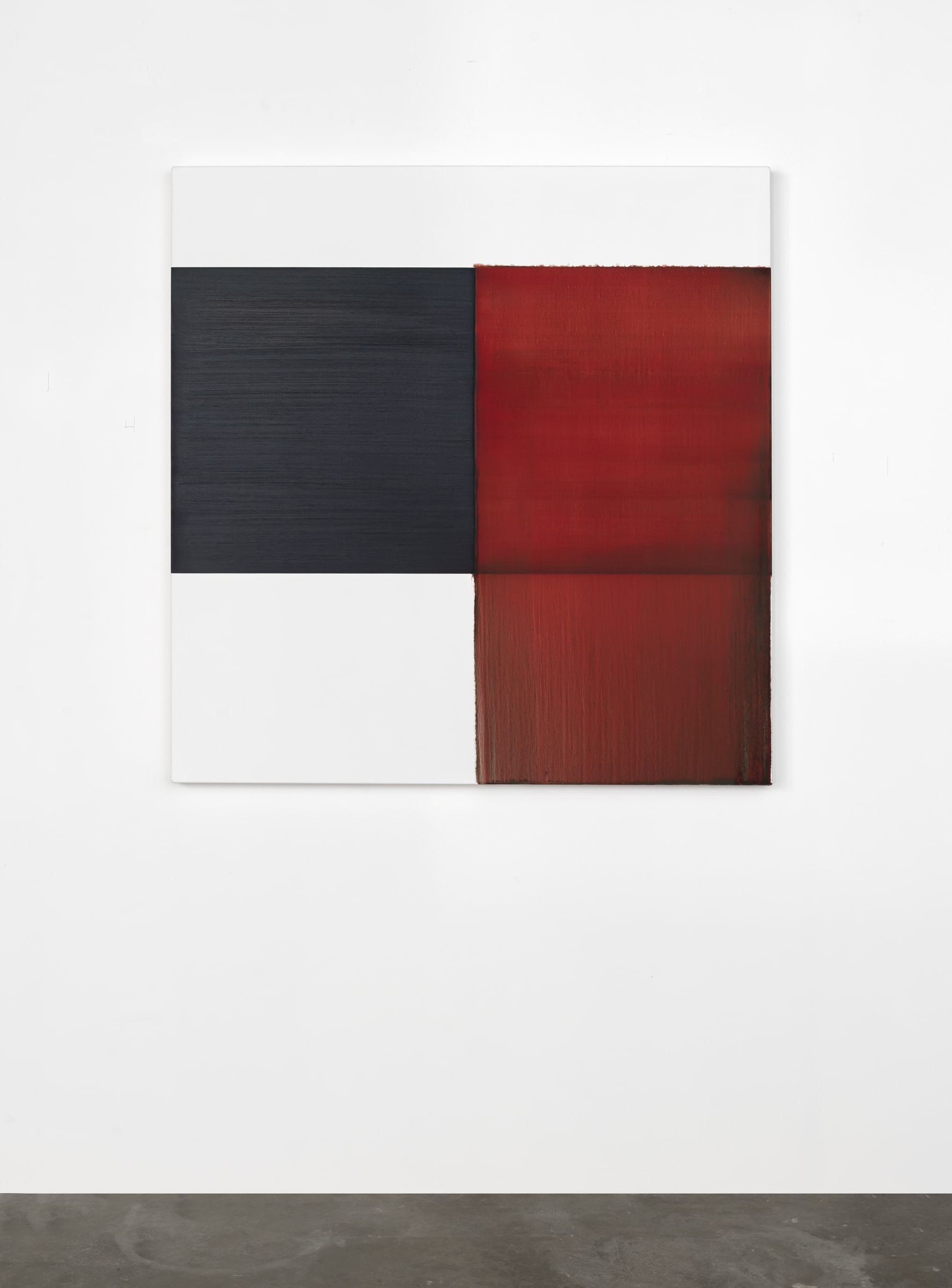 "<span class=""link fancybox-details-link""><a href=""/artists/33-callum-innes/works/17630/"">View Detail Page</a></span><div class=""artist""><strong>CALLUM INNES</strong></div> <div class=""title""><em>Exposed Painting Crimson Lake</em>, 2020</div> <div class=""signed_and_dated"">signed on back</div> <div class=""medium"">oil on linen</div> <div class=""dimensions"">110 x 107 cm</div><div class=""copyright_line"">Copyright The Artist</div>"