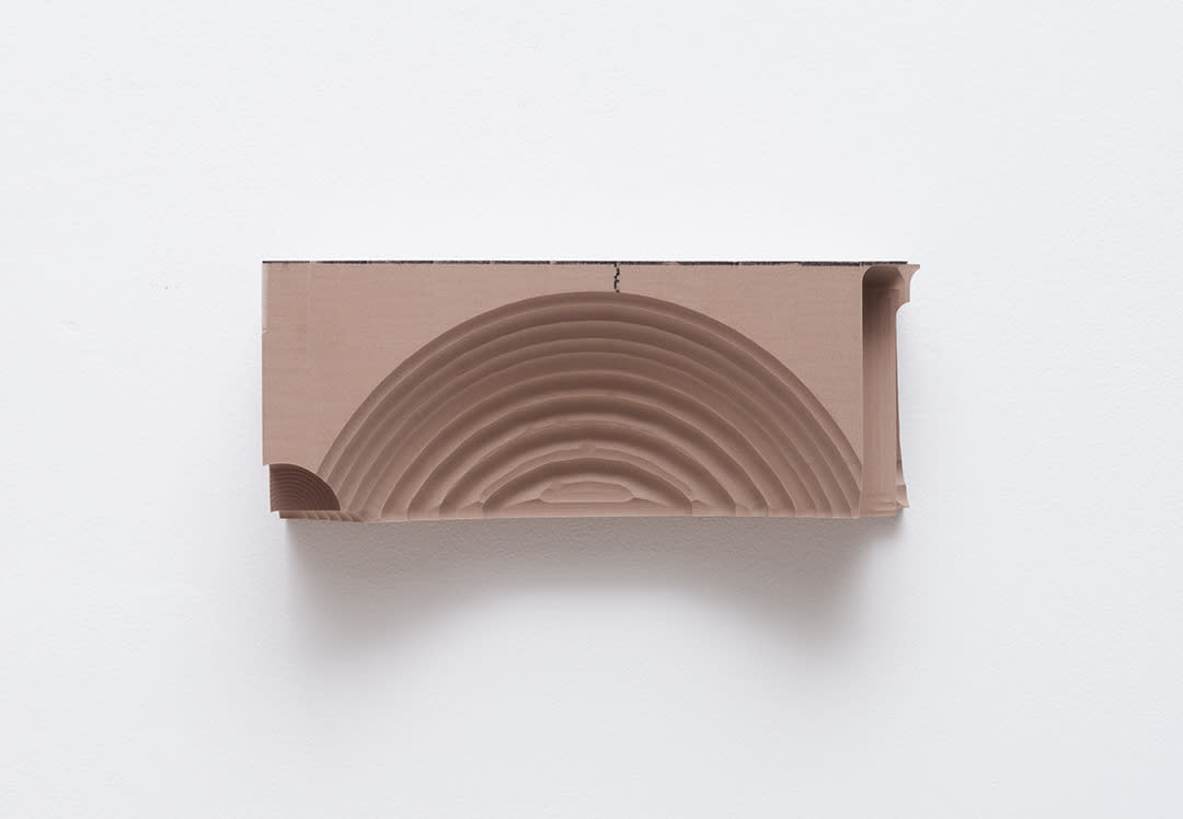 "<span class=""link fancybox-details-link""><a href=""/exhibitions/166/works/artworks15368/"">View Detail Page</a></span><div class=""artist""><strong>B. Ingrid Olson</strong></div><div class=""title""><em>Forehead and Brain</em>, 2018</div><div class=""medium"">PVA size, oil stick, polyurethane foam</div><div class=""dimensions"">10 x 25 x 8 cm</div>"