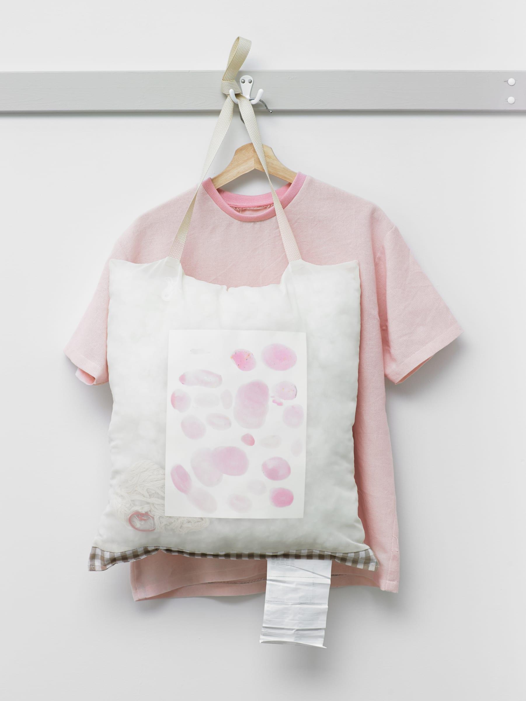 """<span class=""""link fancybox-details-link""""><a href=""""/artists/137-arna-ottarsdottir/works/16043/"""">View Detail Page</a></span><div class=""""artist""""><strong>ARNA ÓTTARSDÓTTIR</strong></div> <div class=""""title""""><em>Pink T-shirt</em>, 2019</div> <div class=""""medium"""">cotton, polyester</div> <div class=""""dimensions"""">medium</div><div class=""""copyright_line"""">Copyright The Artist</div>"""