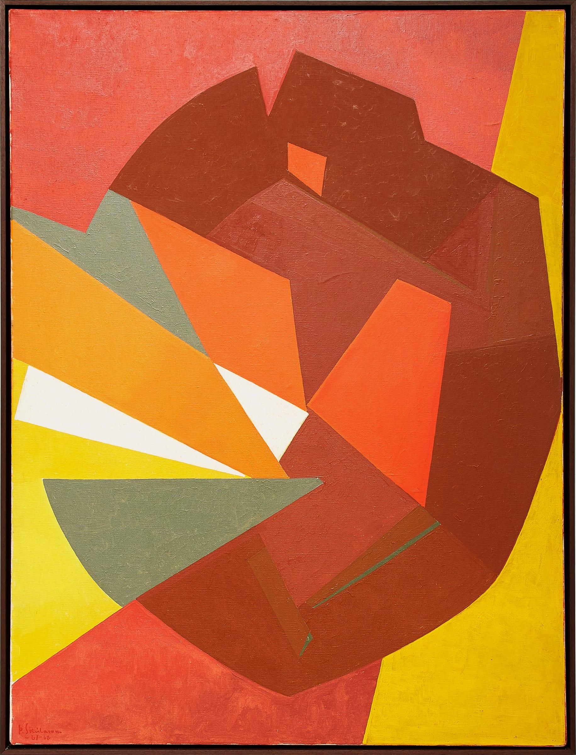 "<span class=""link fancybox-details-link""><a href=""/exhibitions/163/works/artworks14969/"">View Detail Page</a></span><div class=""artist""><strong>Þorvaldur Skúlason</strong></div> 1906-1984<div class=""title""><em>Komposition no. 17</em>, 1961-1962</div><div class=""medium"">oil on canvas</div><div class=""dimensions"">Framed: 134 x 101<br>131 x 97 cm</div>"