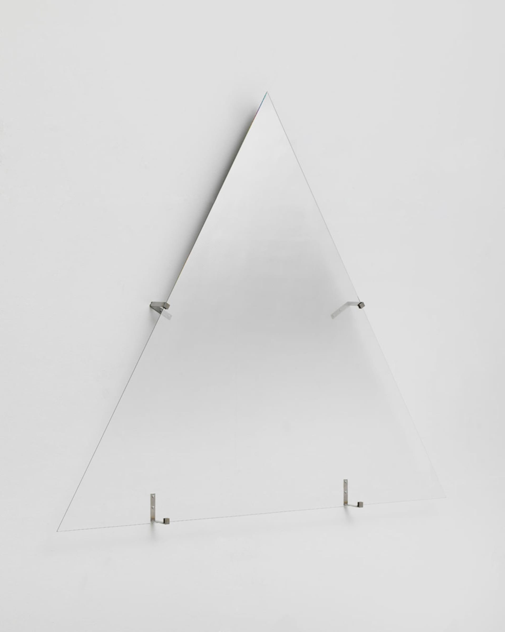 """<span class=""""link fancybox-details-link""""><a href=""""/artists/132-olafur-eliasson/works/9326/"""">View Detail Page</a></span>ÓLAFUR ELÍASSON   Hesitant movement up, 2013   partially silvered glass, stainless steel   130 x 150 x 8 cm"""