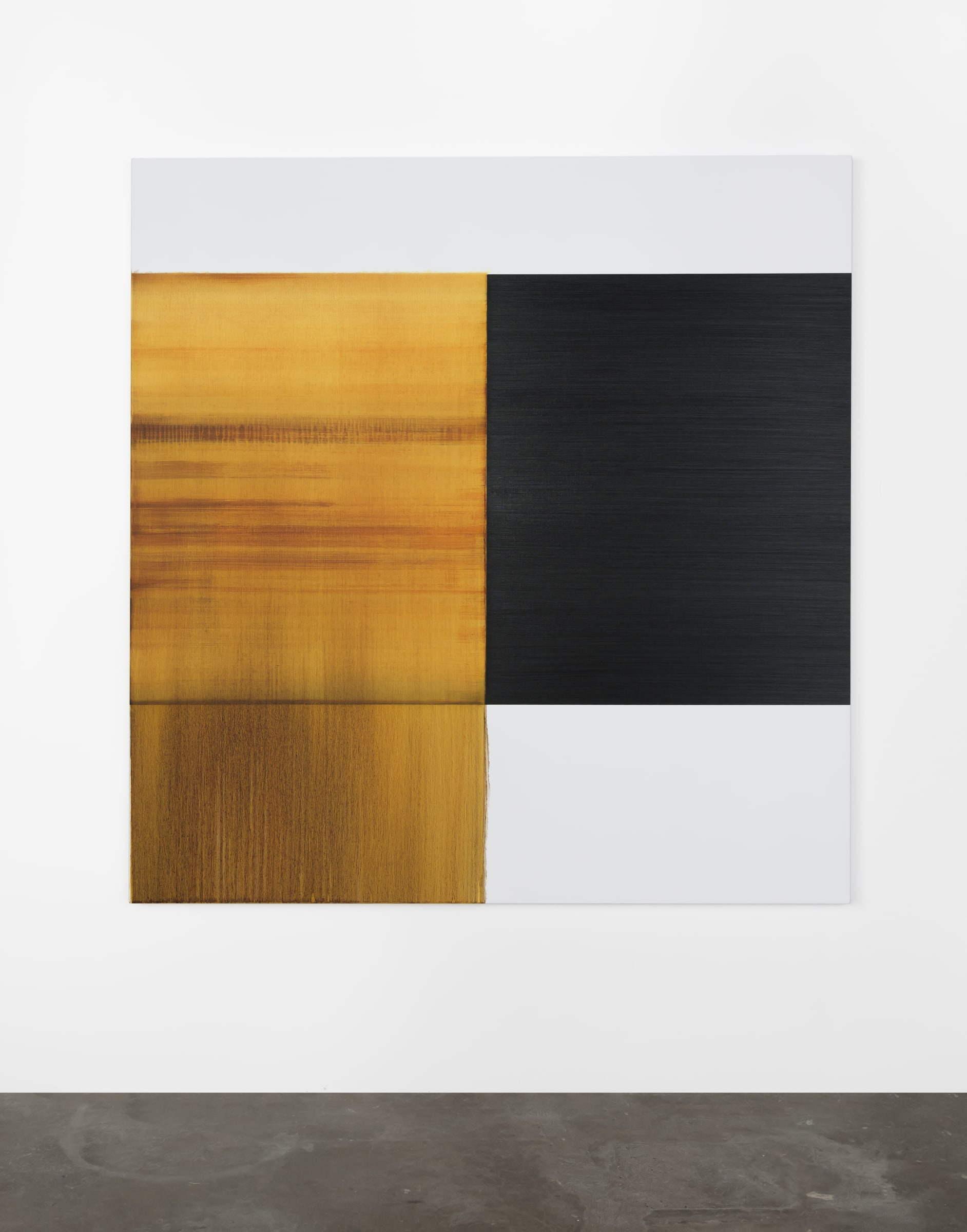 """<span class=""""link fancybox-details-link""""><a href=""""/artists/33-callum-innes/works/17628/"""">View Detail Page</a></span><div class=""""artist""""><strong>CALLUM INNES</strong></div> <div class=""""title""""><em>Exposed Painting Quinacridone Gold</em>, 2020</div> <div class=""""signed_and_dated"""">signed on back</div> <div class=""""medium"""">oil on linen</div> <div class=""""dimensions"""">175 x 172 cm<br /> 68 7/8 x 67 3/4 in</div><div class=""""copyright_line"""">Copyright The Artist</div>"""