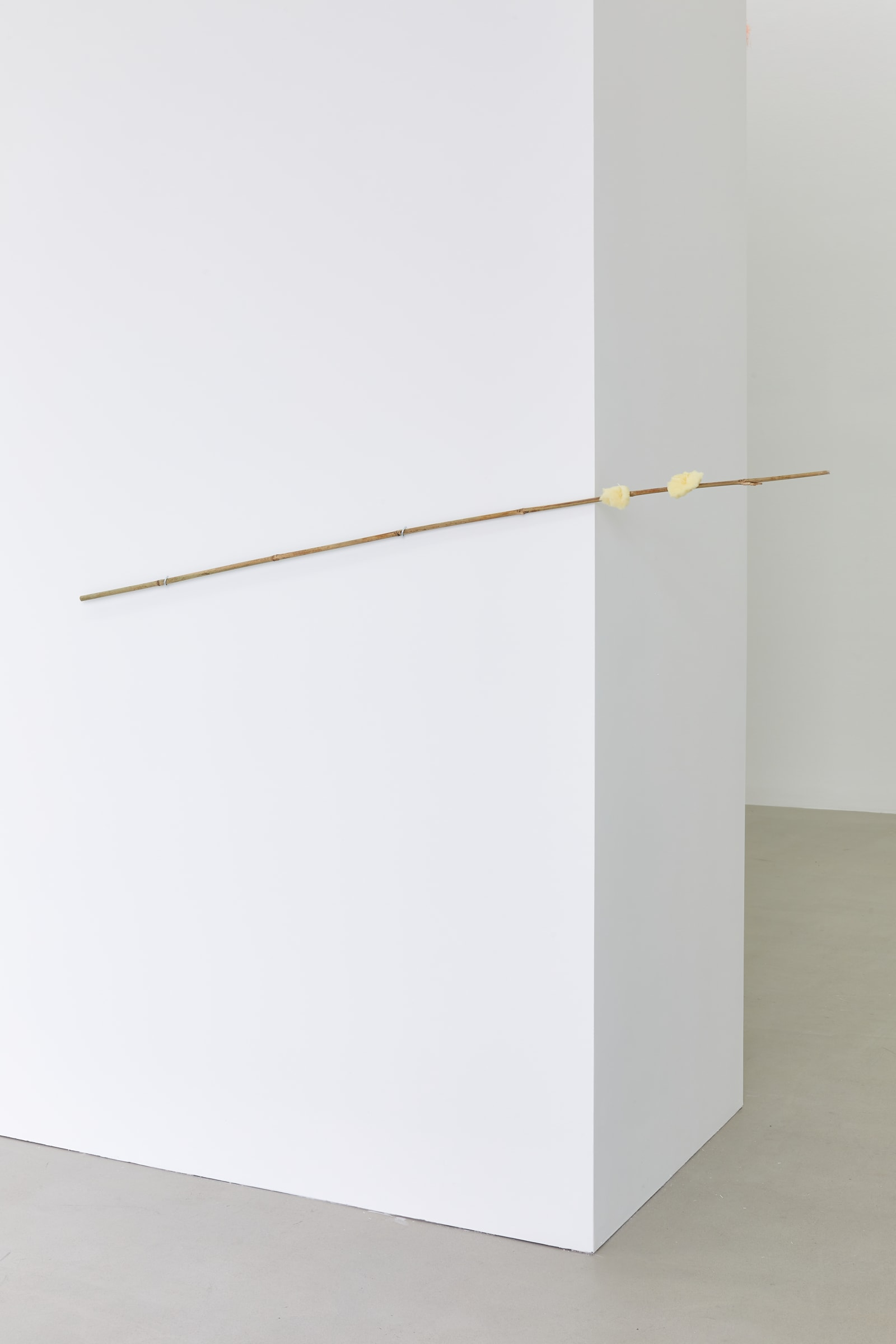 "<span class=""link fancybox-details-link""><a href=""/exhibitions/177/works/artworks16922/"">View Detail Page</a></span>MARGRÉT H. BLÖNDAL  Untitled, 2020  bamboo stick, sponge, hooks, cotton thread, plaster residue  20 x 157 x 8 cm 7 7/8 x 61 3/4 x 3 1/8 in"