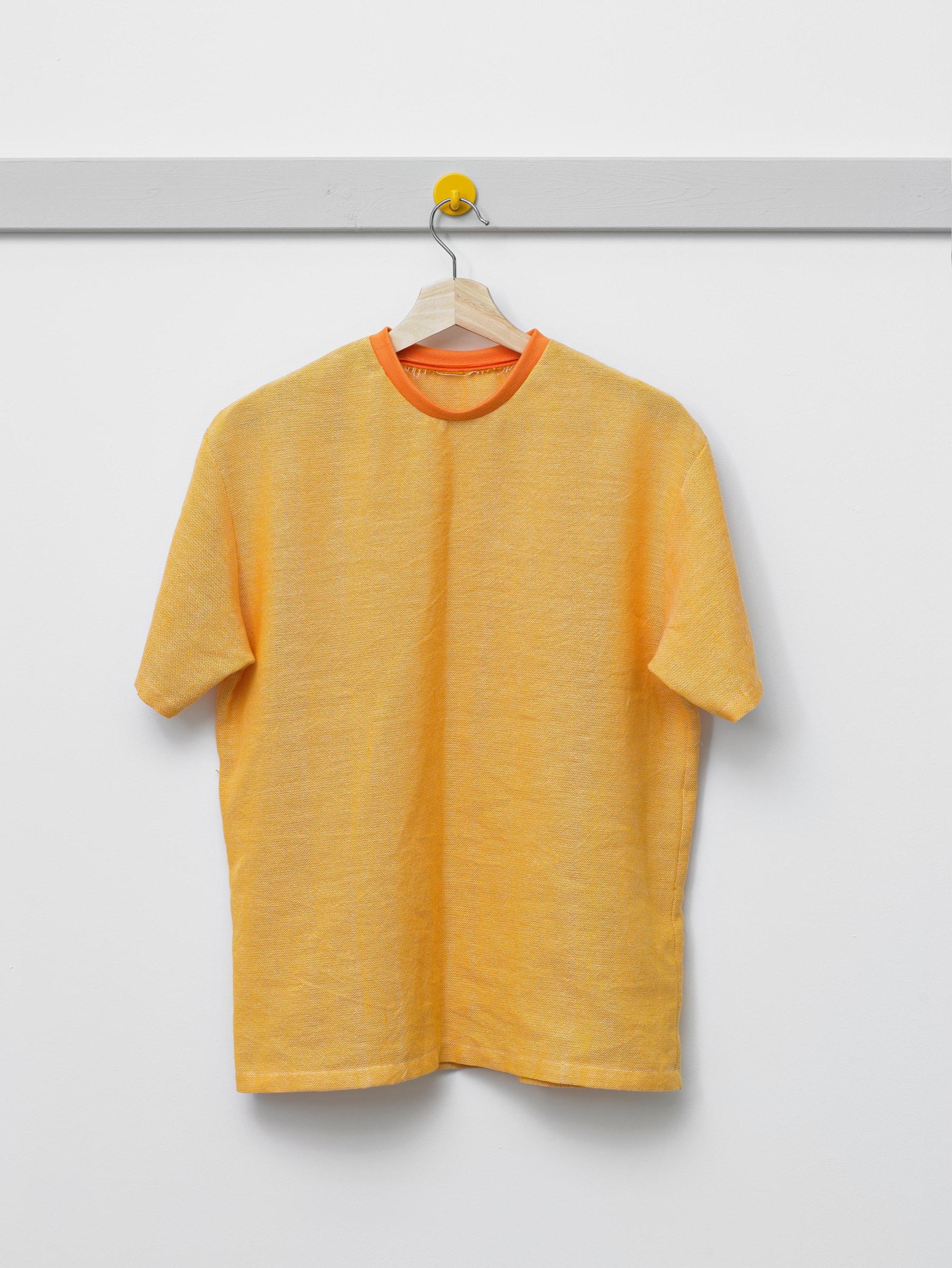"""<span class=""""link fancybox-details-link""""><a href=""""/artists/137-arna-ottarsdottir/works/16040/"""">View Detail Page</a></span><div class=""""artist""""><strong>ARNA ÓTTARSDÓTTIR</strong></div> <div class=""""title""""><em>Yellow T-shirt</em>, 2019</div> <div class=""""medium"""">cotton, polyester</div> <div class=""""dimensions"""">medium</div><div class=""""copyright_line"""">Copyright The Artist</div>"""