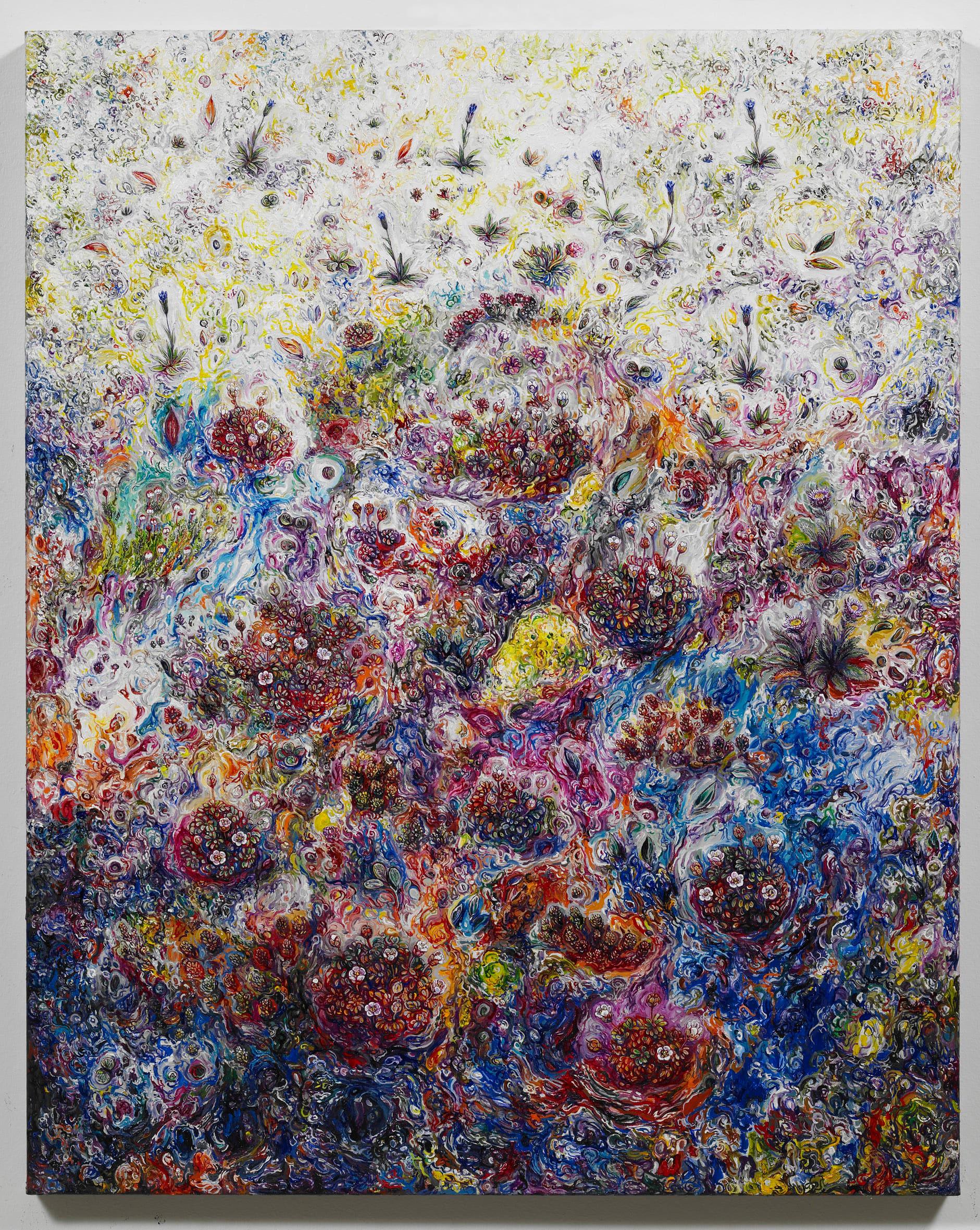 "<span class=""link fancybox-details-link""><a href=""/exhibitions/128/works/artworks8848/"">View Detail Page</a></span><div class=""artist""><strong>EGGERT PÉTURSSON</strong></div><div class=""title""><em>Untitled / Án titils (Fjallabláklukkur og Fjallabrúða)</em>, 2011-2012</div><div class=""signed_and_dated"">signed on back</div><div class=""medium"">oil on canvas / olía á striga</div><div class=""dimensions"">100.0 x 80.0 cm<br>39 1/8 x 31 3/16 in</div>"