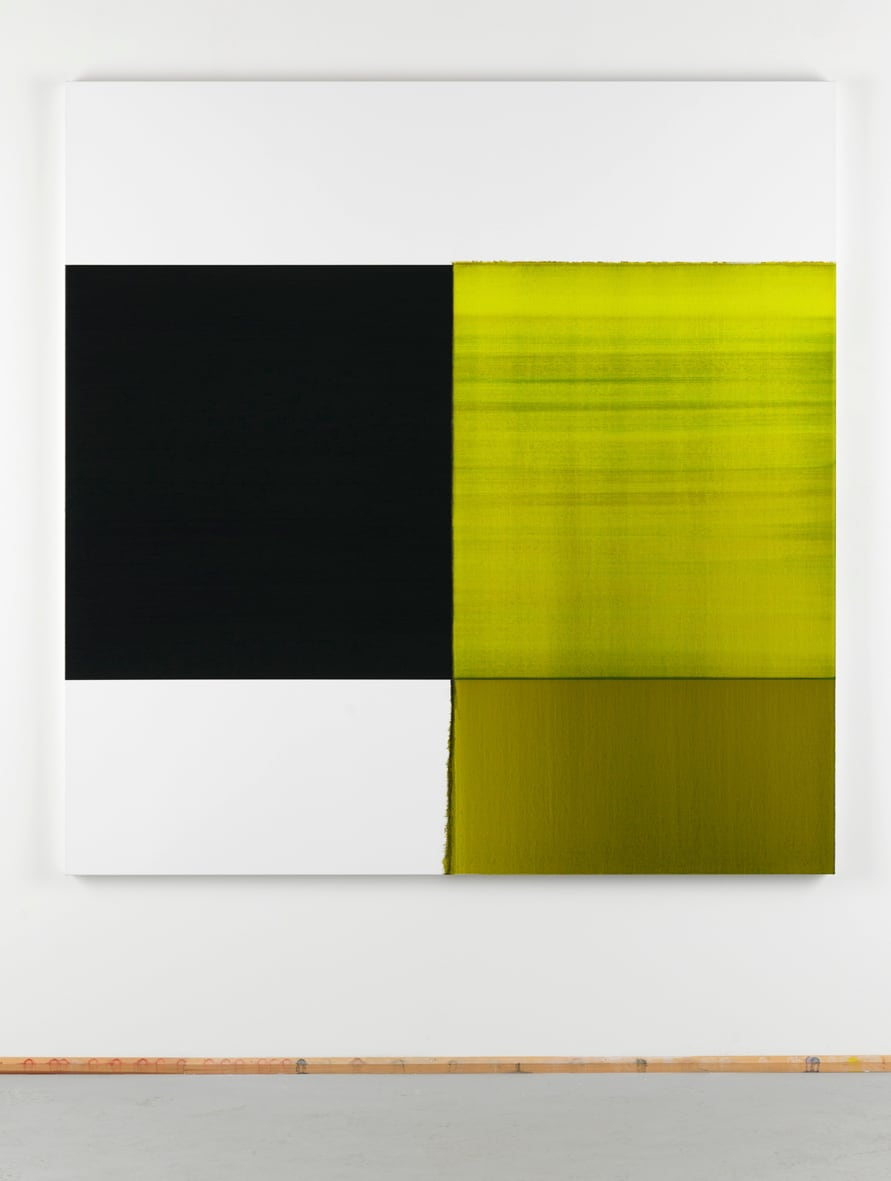 """<span class=""""link fancybox-details-link""""><a href=""""/exhibitions/130/works/artworks9105/"""">View Detail Page</a></span><div class=""""artist""""><strong>CALLUM INNES</strong></div><div class=""""title""""><em>Exposed painting Green Lake, Lamp Black</em>, 2012</div><div class=""""medium"""">oil on linen</div><div class=""""dimensions"""">180.0 x 175.0 cm<br>70 5/16 x 68 5/16 in</div>"""