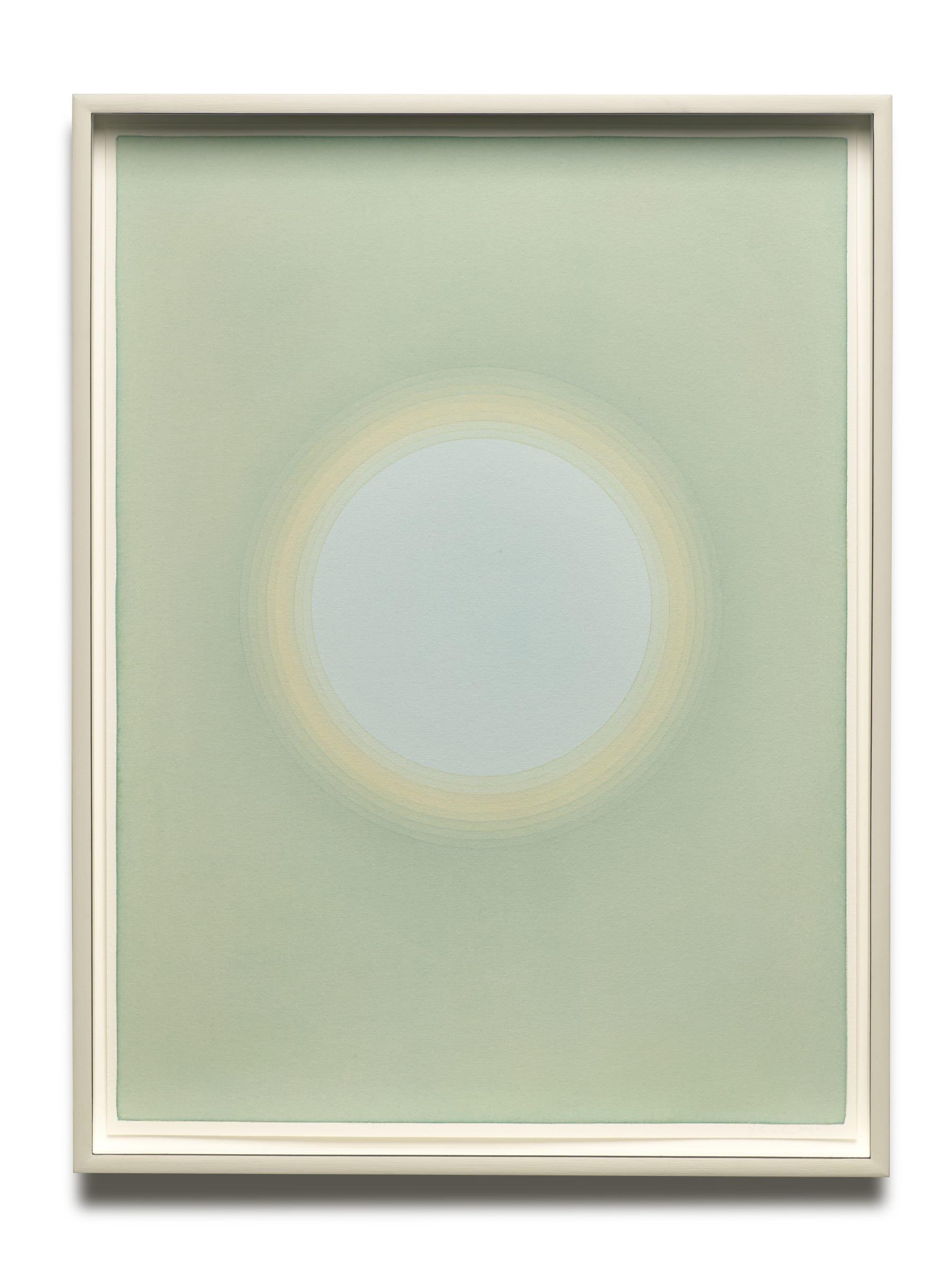 "<span class=""link fancybox-details-link""><a href=""/exhibitions/176/works/artworks16832/"">View Detail Page</a></span>ÓLAFUR ELÍASSON  Solar short-term memory (14 seconds), 2020  watercolour, pencil on paper  71,6 x 53,9 x 6 cm"