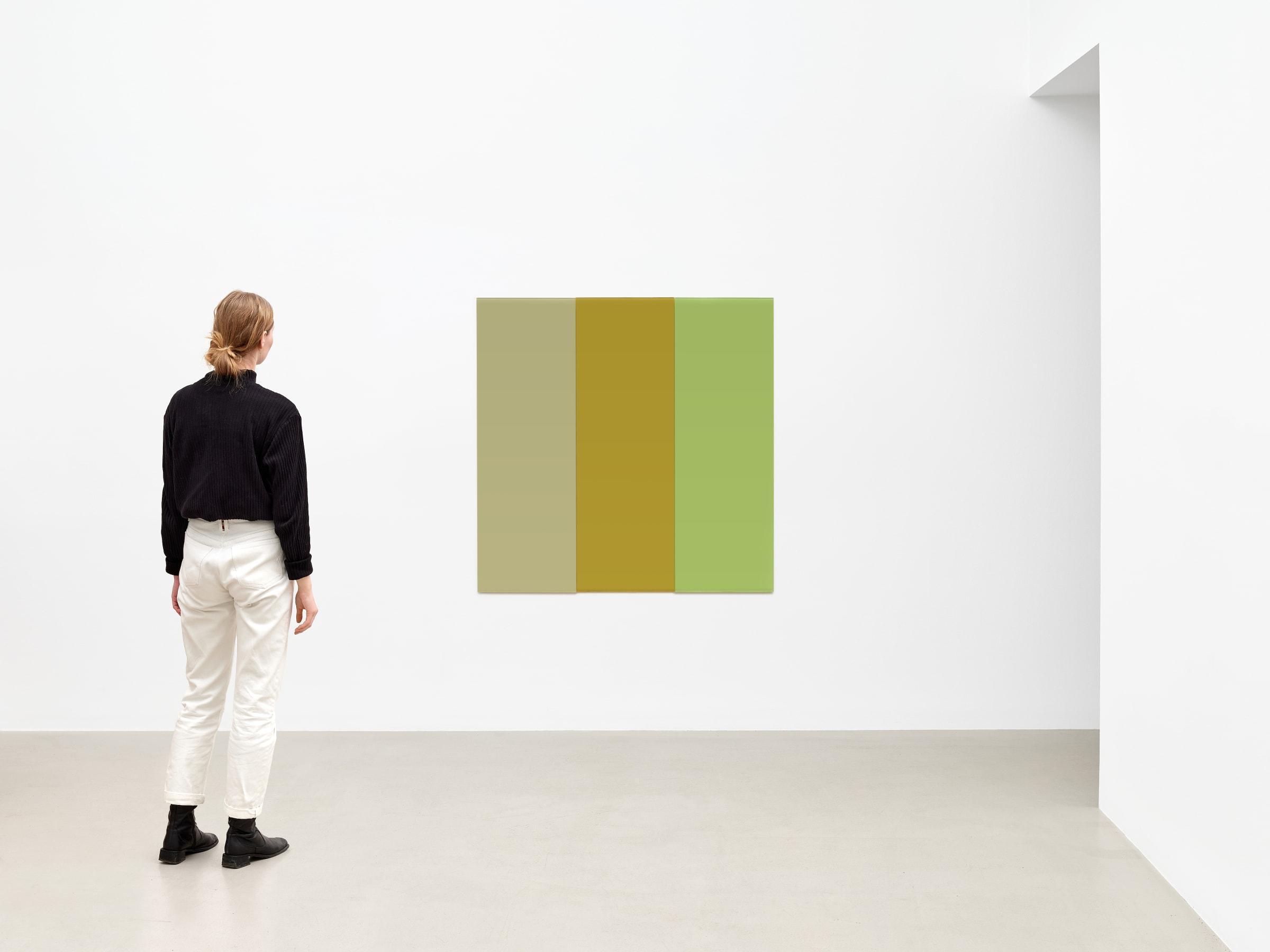 "<span class=""link fancybox-details-link""><a href=""/artists/43-or-vigfusson/works/3820/"">View Detail Page</a></span><div class=""artist""><strong>ÞÓR VIGFÚSSON</strong></div> <div class=""title""><em>Untitled</em>, 2003</div> <div class=""medium"">enameled glass</div> <div class=""dimensions"">Each panel:<br /> 59 1/8 x 19 3/4 in<br /> 150 x 50 cm</div>"