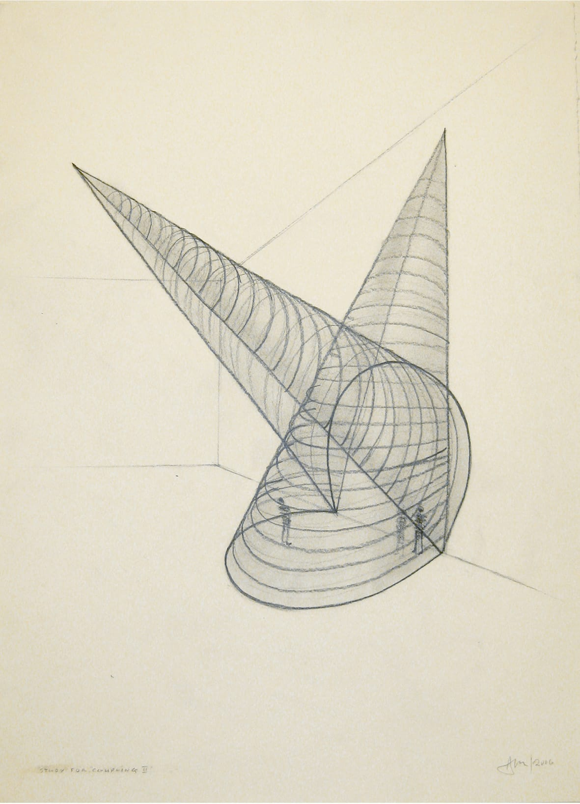 """<span class=""""link fancybox-details-link""""><a href=""""/exhibitions/109/works/artworks4772/"""">View Detail Page</a></span><div class=""""artist""""><strong> Anthony Mccall</strong></div><div class=""""title""""><em>Study for Coupling II</em>, 2006</div><div class=""""signed_and_dated"""">titled, signed and dated, recto</div><div class=""""medium"""">graphite on paper</div><div class=""""dimensions"""">paper: 30 x 22 3/8 inches (76.2 x 56.8 cm)</div>"""