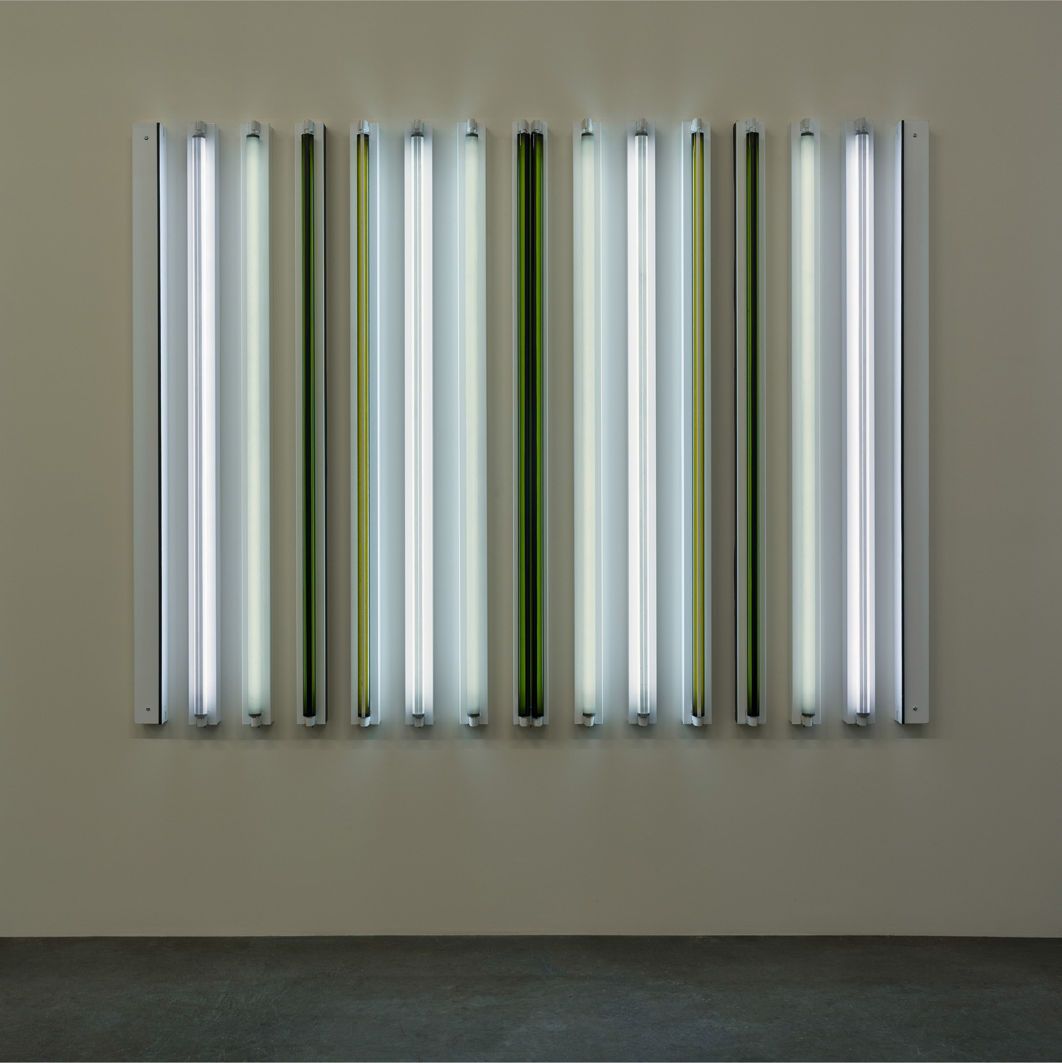 "<span class=""link fancybox-details-link""><a href=""/exhibitions/160/works/artworks14578/"">View Detail Page</a></span><div class=""artist""><strong>ROBERT IRWIN</strong></div><div class=""title""><em>Sonora #15 x 6´</em>, 2015</div><div class=""medium"">light, shadow, reflection, color<br></div><div class=""dimensions"">72 1/8 x 94 1/2 x 4 3/4 in<br>183 x 240 x 11 cm</div>"