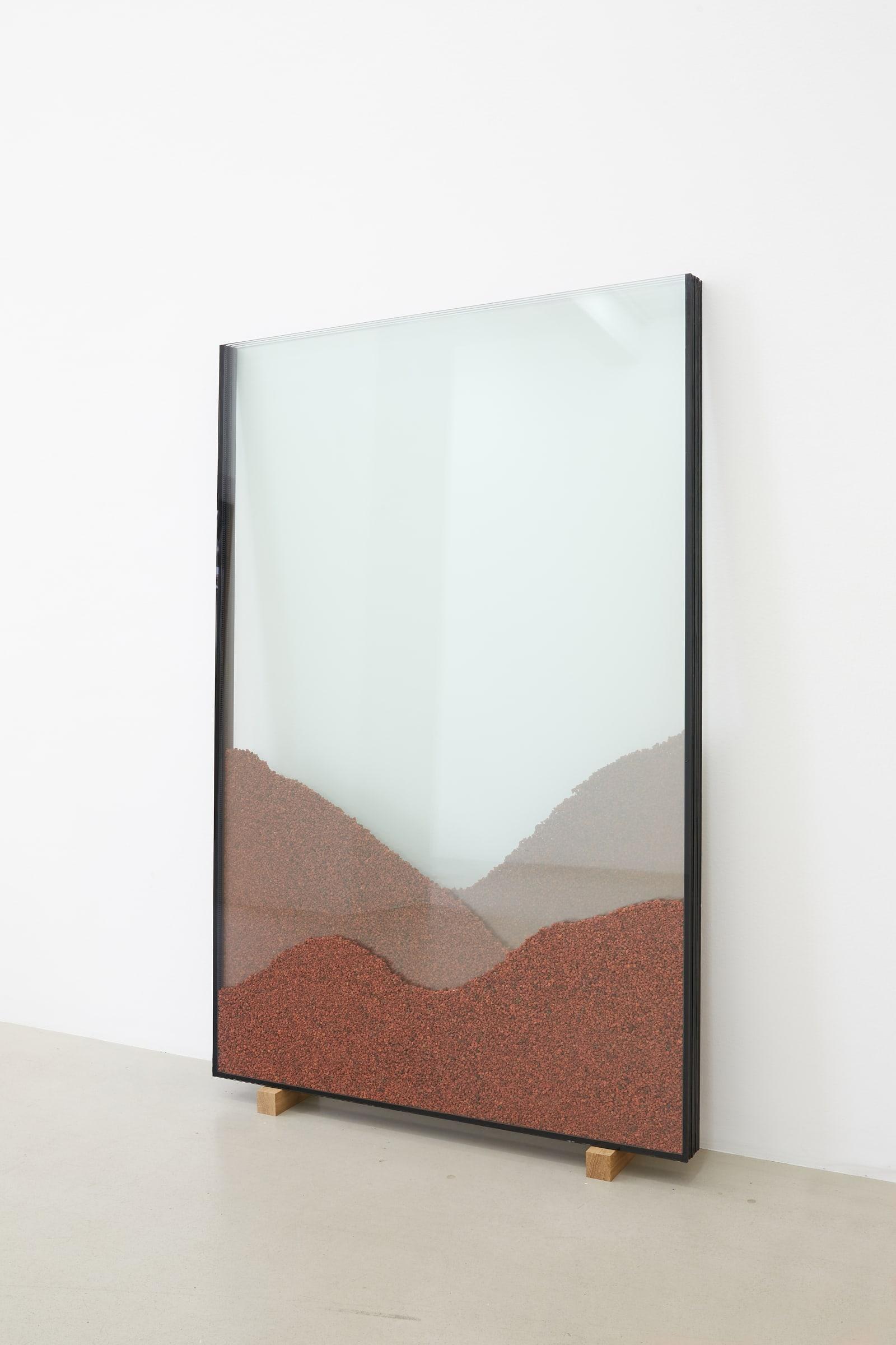 "<span class=""link fancybox-details-link""><a href=""/exhibitions/185/works/artworks17785/"">View Detail Page</a></span><div class=""artist""><strong>RAGNA RÓBERTSDÓTTIR</strong></div><div class=""title""><em>View</em>, 2021</div><div class=""medium"">glass, red lava from Seyðishólar</div><div class=""dimensions"">150 x 100 x 7 cm<br>59 1/8 x 39 3/8 x 2 3/4 in</div>"