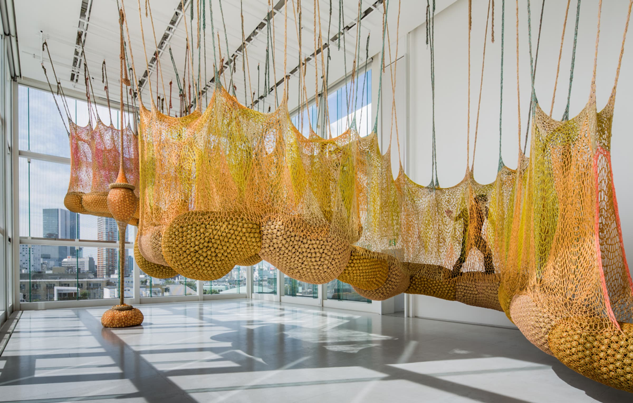 "<span class=""link fancybox-details-link""><a href=""/artists/37-ernesto-neto/works/15108/"">View Detail Page</a></span><div class=""artist""><strong>ERNESTO NETO</strong></div> <div class=""title""><em>Life is a Body we are Part of</em>, 2012</div> <div class=""medium"">polypropylene + polyester string and plastic balls</div> <div class=""dimensions"">780 x 786 x 1486 cm</div>"