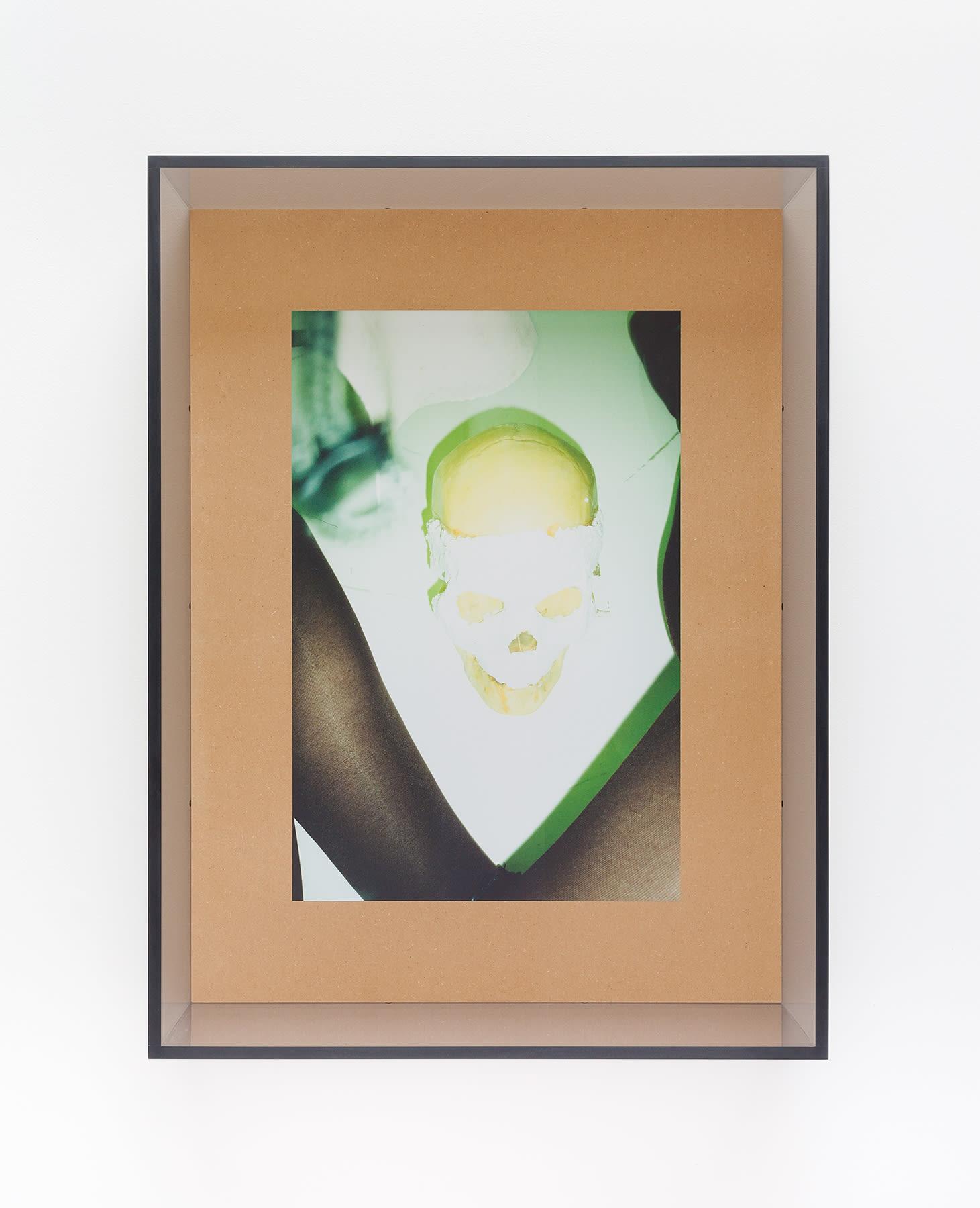 "<span class=""link fancybox-details-link""><a href=""/exhibitions/166/works/artworks15363/"">View Detail Page</a></span><div class=""artist""><strong>B. Ingrid Olson</strong></div><div class=""title""><em>Whet Grin Waning Crown</em>, 2017</div><div class=""medium"">UV printed MDF, PVA size, plexiglas, screws</div><div class=""dimensions"">82,5 x 62,2 x 15,2 cm</div>"