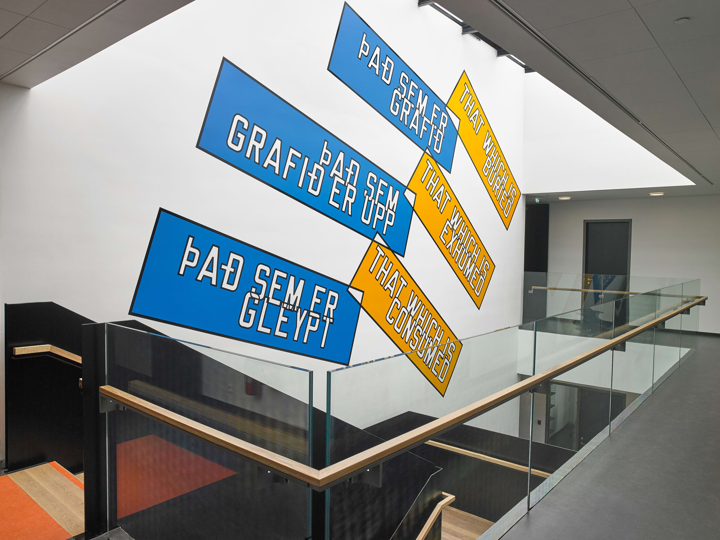 """<span class=""""link fancybox-details-link""""><a href=""""/artists/44-lawrence-weiner/works/12849/"""">View Detail Page</a></span><div class=""""artist""""><strong>LAWRENCE WEINER</strong></div> <div class=""""title""""><em>THAT WHICH IS BURIED, THAT WHICH IS EXHUMED, THAT WHICH IS CONSUMED</em>, 2016</div> <div class=""""medium"""">language + the materials referred to<br /> <br /> </div> <div class=""""dimensions"""">dimensions variable</div>"""