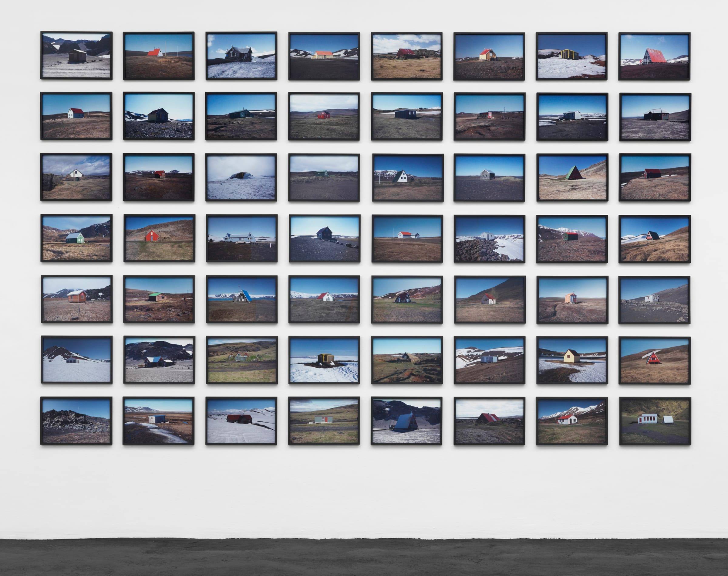 "<span class=""link fancybox-details-link""><a href=""/exhibitions/132/works/artworks9329/"">View Detail Page</a></span><div class=""artist""><strong>ÓLAFUR ELÍASSON</strong></div><div class=""title""><em>The hut series</em>, 2012</div><div class=""medium"">56 c-prints</div><div class=""dimensions"">each print: 25 x 38 cm <br>framed:26,4 x 39,4 x 2,2 cm<br>Installed: 226,8 x 357,2 cm</div><div class=""edition_details""></div>"