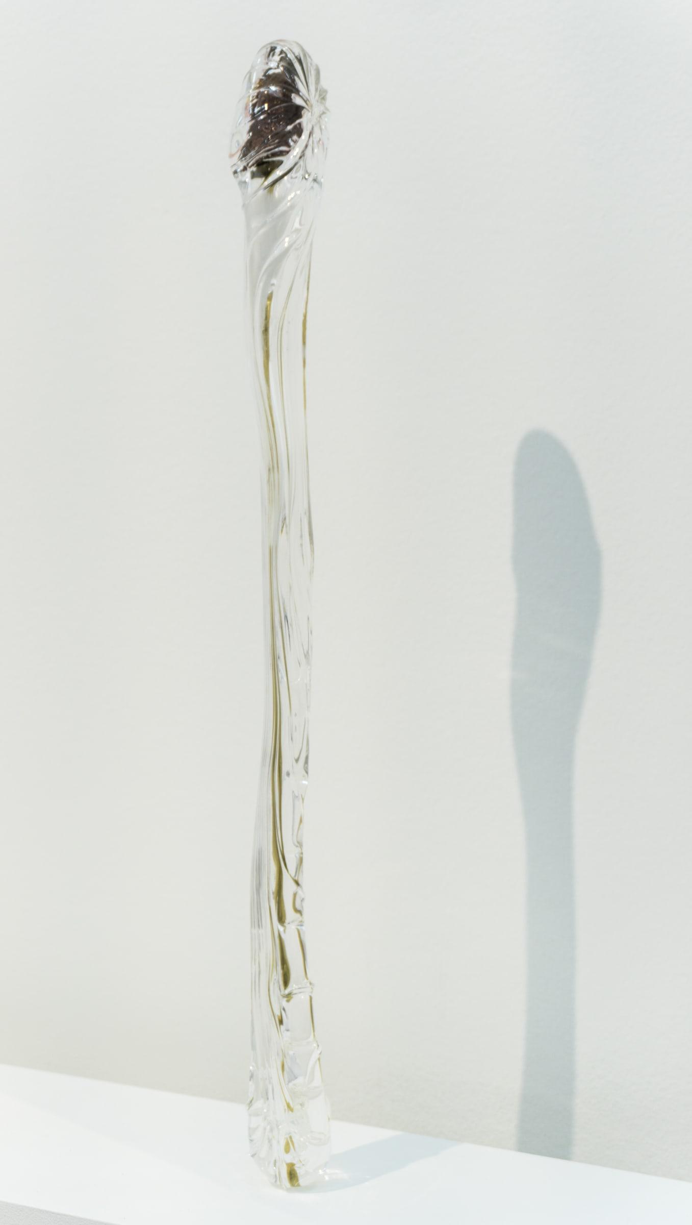 "<span class=""link fancybox-details-link""><a href=""/exhibitions/166/works/artworks15318/"">View Detail Page</a></span><div class=""artist""><strong>Kelly Akashi</strong></div><div class=""title""><em>Figured Finger (Encased Digit)</em>, 2018</div><div class=""medium"">glass, bronze</div><div class=""dimensions"">58,5 x 5 x 5 cm<br></div>"