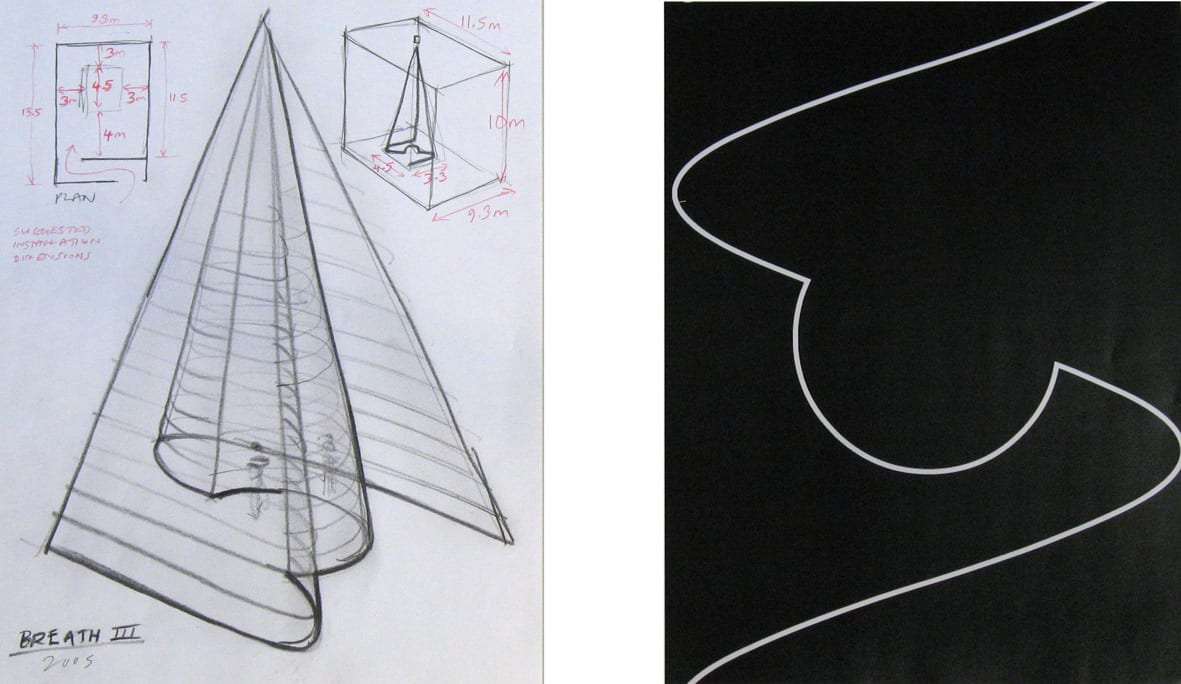 """<span class=""""link fancybox-details-link""""><a href=""""/exhibitions/109/works/artworks4771/"""">View Detail Page</a></span><div class=""""artist""""><strong> Anthony Mccall</strong></div><div class=""""title""""><em>Breath III - Screen capture and installation study</em>, 2004/2005</div><div class=""""signed_and_dated"""">titled and dated, recto</div><div class=""""medium"""">laser print on paper and pencil on paper</div><div class=""""dimensions"""">paper: 11 x 8 1/2 inches each (27.94 x 21.59 cm) each<br>framed: 17 1/2 x 23 3/8 inches (44.5 x 59.4 cm)</div>"""