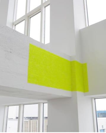 """<span class=""""link fancybox-details-link""""><a href=""""/artists/39-ragna-robertsdottir/works/14988/"""">View Detail Page</a></span><div class=""""artist""""><strong>RAGNA RÓBERTSDÓTTIR</strong></div> <div class=""""title""""><em>New Landscape</em>, 2018</div> <div class=""""medium"""">acrylic pieces</div> <div class=""""dimensions"""">43 x 109 cm</div>"""