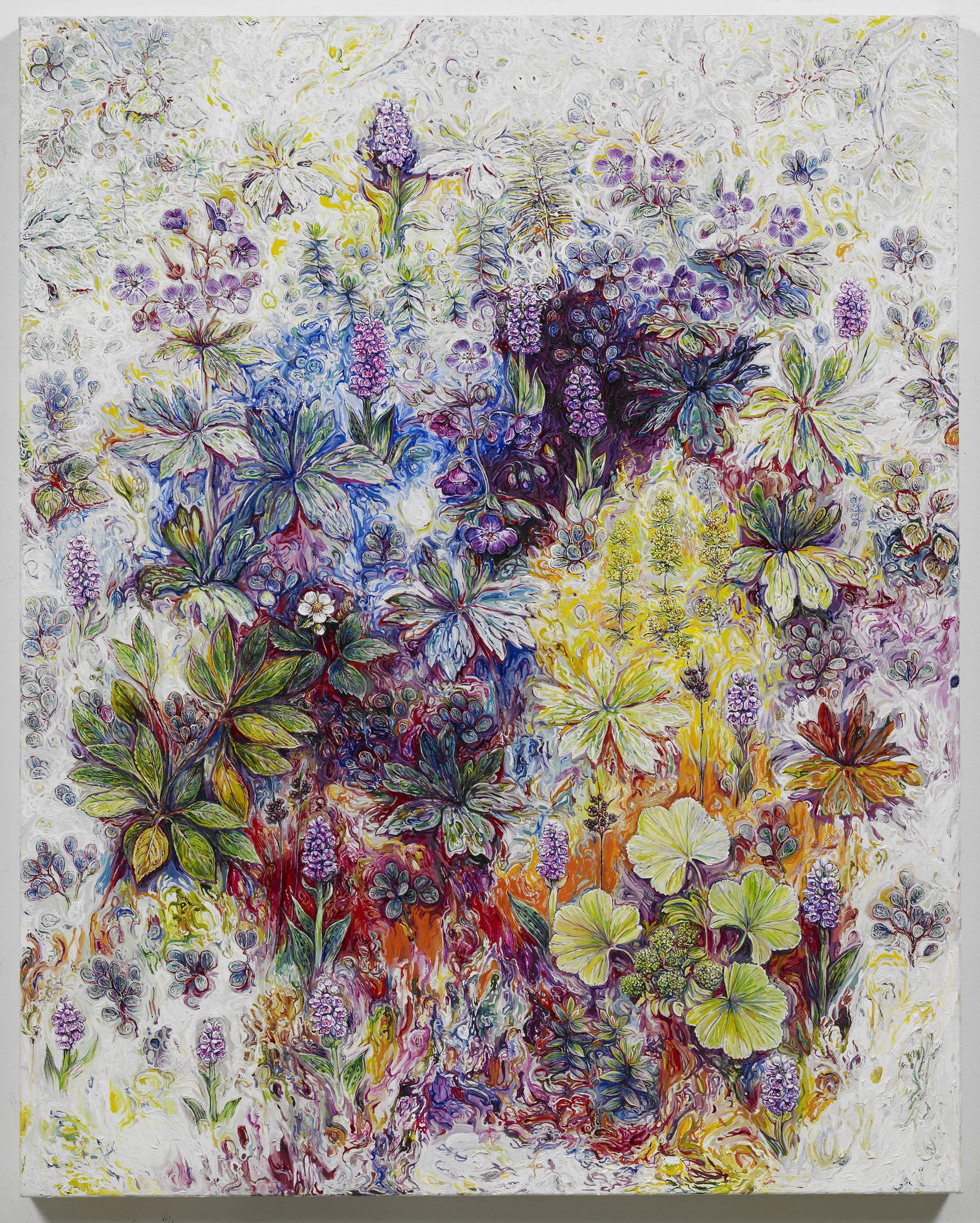"<span class=""link fancybox-details-link""><a href=""/exhibitions/128/works/artworks8843/"">View Detail Page</a></span><div class=""artist""><strong>EGGERT PÉTURSSON</strong></div><div class=""title""><em>Untitled / Án titils (Blágresi og Brönugrös í birtu)</em>, 2011-2012</div><div class=""signed_and_dated"">signed on back</div><div class=""medium"">oil on canvas / olía á striga</div><div class=""dimensions"">100.0 x 80.0 cm<br>39 1/8 x 31 3/16 in</div>"
