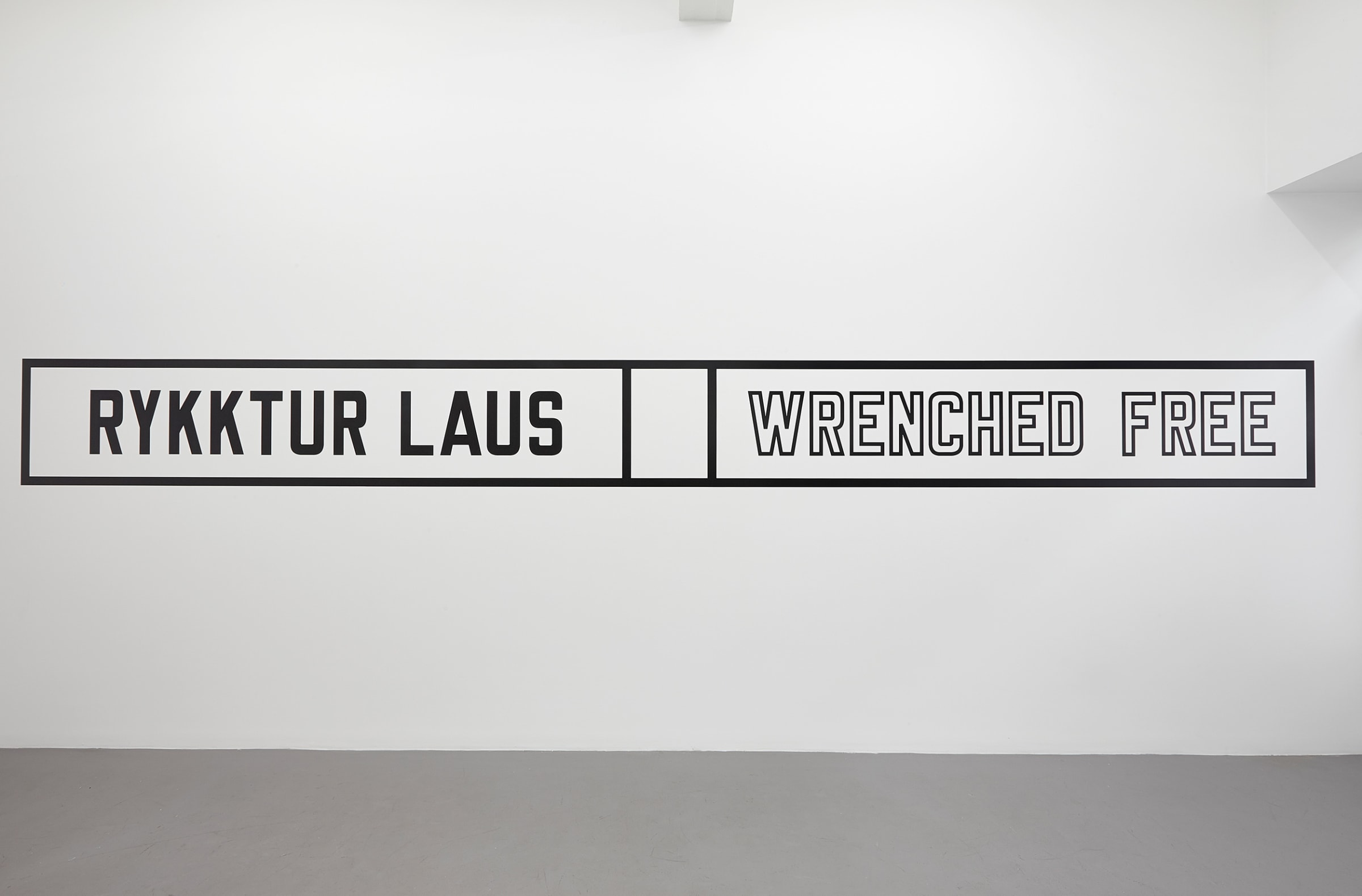 "<span class=""link fancybox-details-link""><a href=""/exhibitions/141/works/artworks10674/"">View Detail Page</a></span><div class=""artist""><strong>LAWRENCE WEINER</strong></div><div class=""title""><em>Wrenched free</em>, 2014</div><div class=""signed_and_dated"">certificate</div><div class=""medium"">language + the materials referred to</div><div class=""dimensions"">dimensions variable</div>"