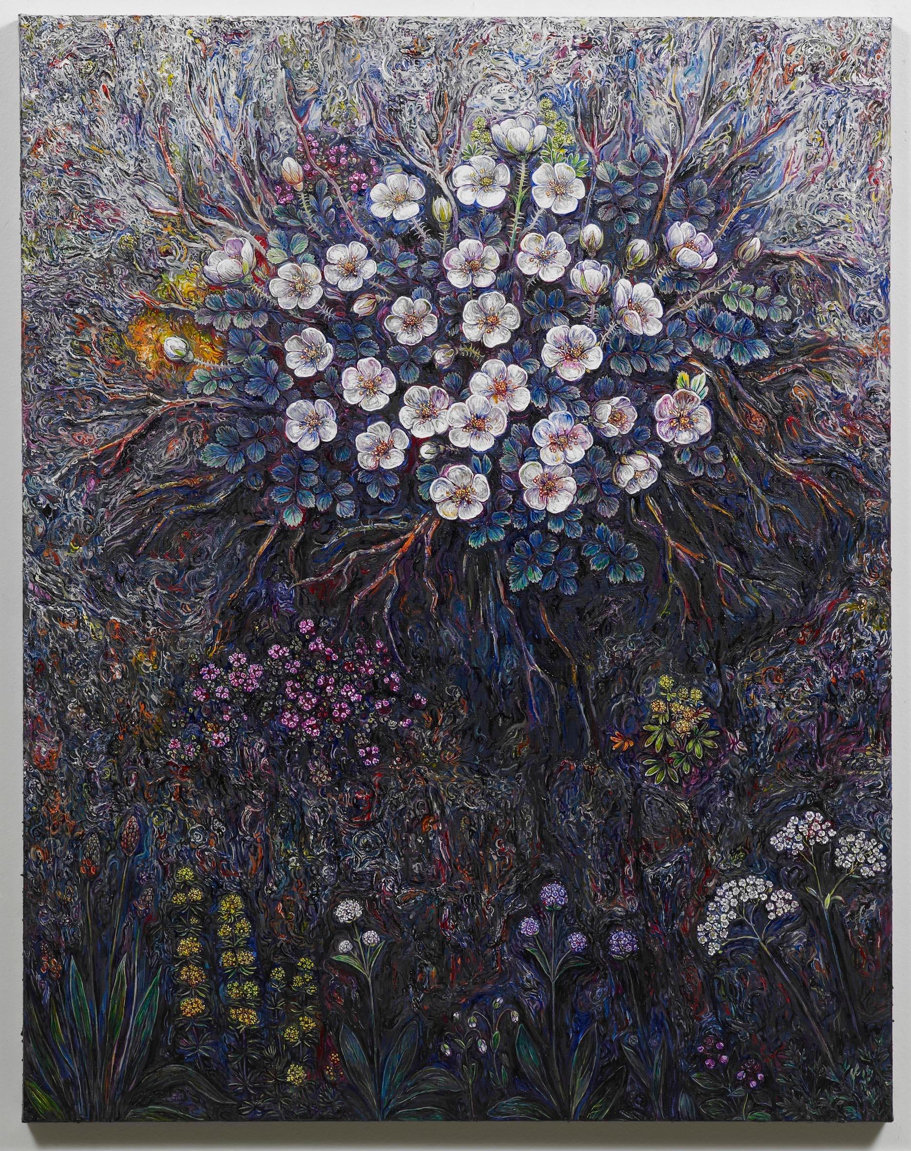 "<span class=""link fancybox-details-link""><a href=""/exhibitions/128/works/artworks8864/"">View Detail Page</a></span><div class=""artist""><strong>EGGERT PÉTURSSON</strong></div><div class=""title""><em>Untitled / Án titils (Þyrnirós í Þrasakletti)</em>, 2011-2012</div><div class=""signed_and_dated"">signed on back</div><div class=""medium"">oil on canvas / olía á striga</div><div class=""dimensions"">100.0 x 80.0 cm<br>39 1/8 x 31 3/16 in</div>"