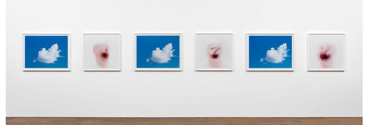 """<span class=""""link fancybox-details-link""""><a href=""""/artists/32-roni-horn/works/13963/"""">View Detail Page</a></span><div class=""""artist""""><strong>RONI HORN</strong></div> <div class=""""title""""><em>Cloud and Clown (Blue)</em>, 2001</div> <div class=""""medium"""">6 c print photographs</div> <div class=""""dimensions"""">3 Clowns 70.5 x 70.5cm each <br /> 3 Clouds 70.5 x 90.7cm each</div> <div class=""""edition_details""""></div>"""
