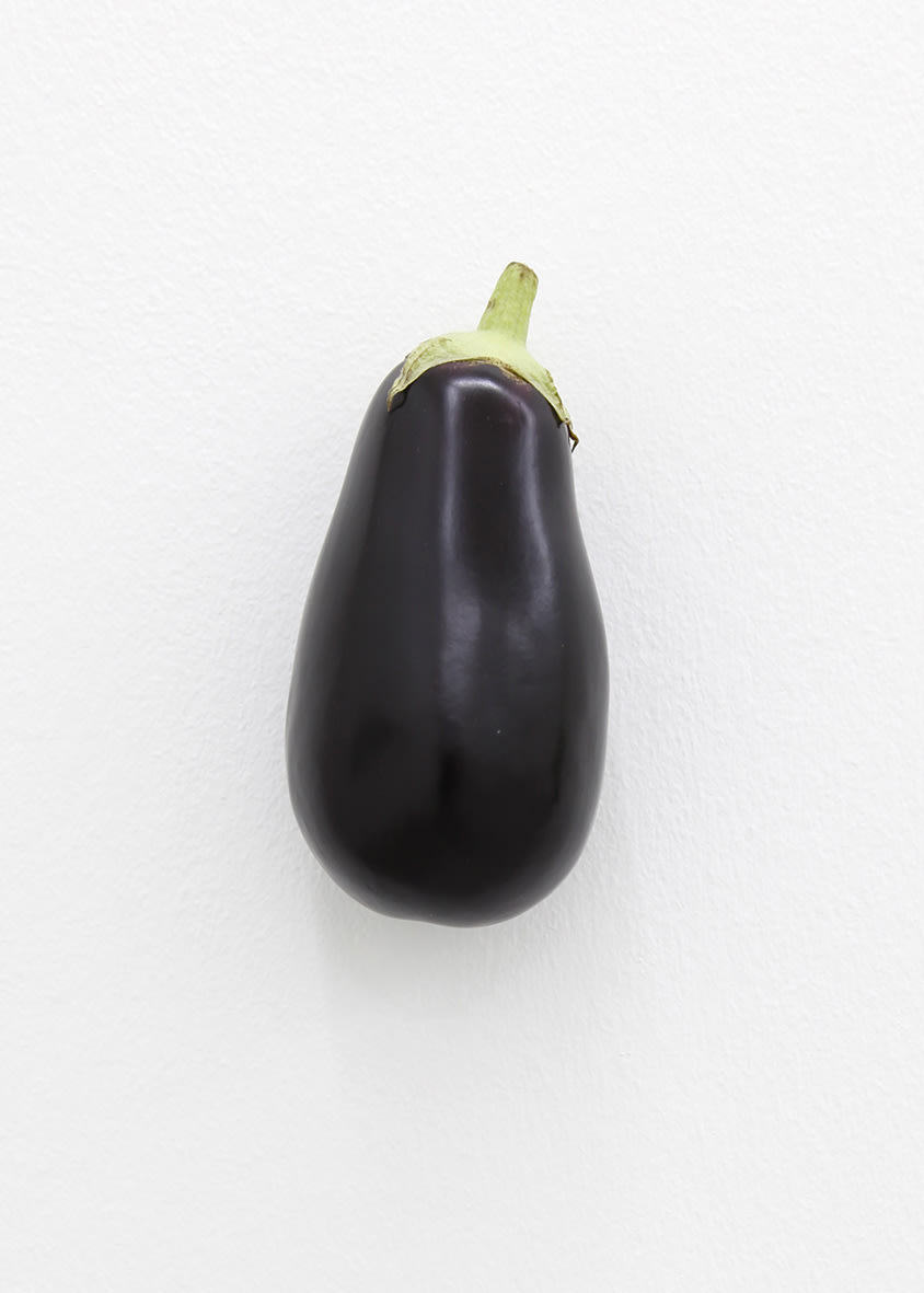 "<span class=""link fancybox-details-link""><a href=""/exhibitions/152/works/artworks12741/"">View Detail Page</a></span><div class=""artist""><strong>KARIN SANDER</strong></div><div class=""title""><em>Eggplant (Kitchen Pieces)</em>, 2011 / 2016</div><div class=""medium"">eggplant, steel nail</div>"