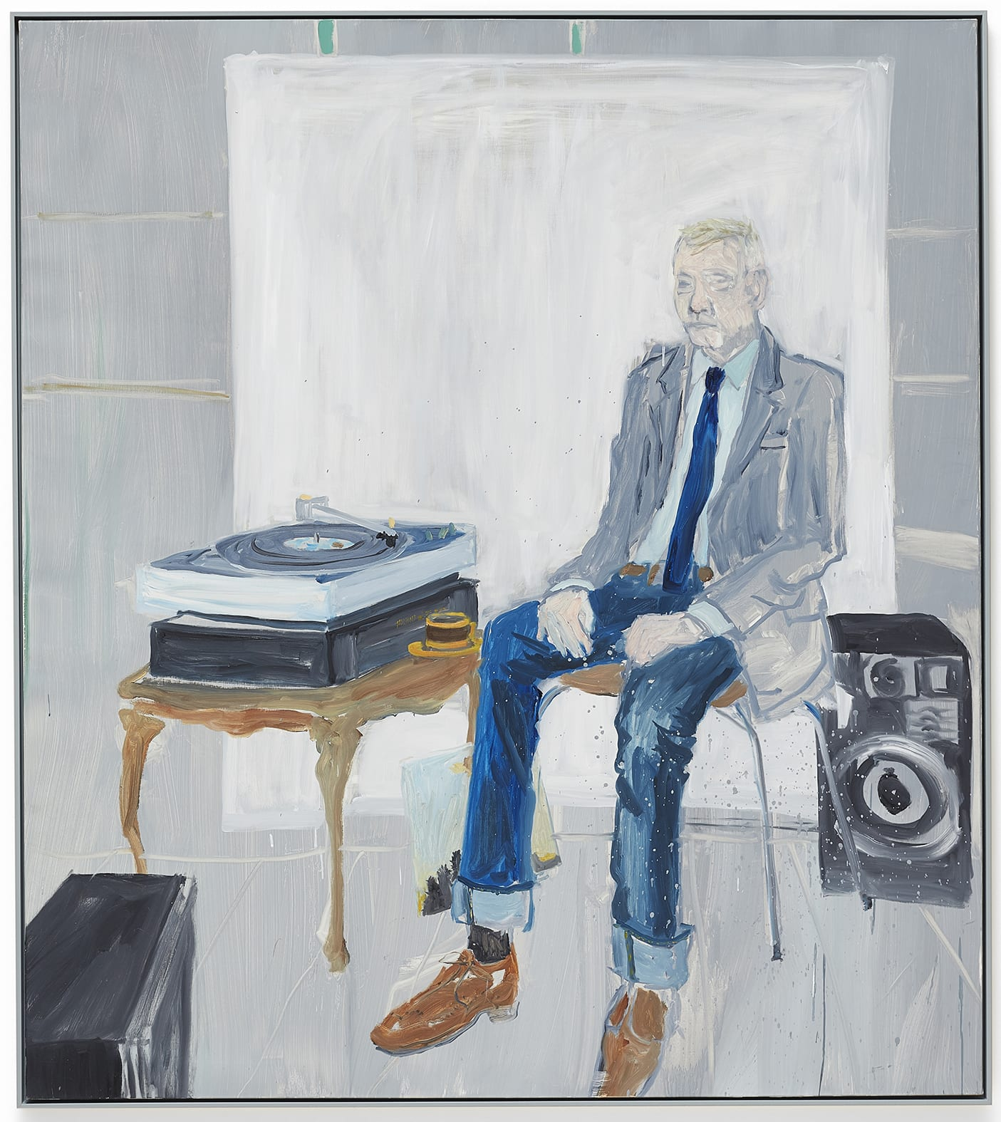 "<span class=""link fancybox-details-link""><a href=""/artists/35-ragnar-kjartansson/works/11180/"">View Detail Page</a></span><div class=""artist""><strong>RAGNAR KJARTANSSON</strong></div> <div class=""title""><em>Bjarni Bummer listens to Take it Easy by Eagles</em>, 2014</div> <div class=""medium"">oil on canvas</div> <div class=""dimensions"">180 x 160 cm</div>"