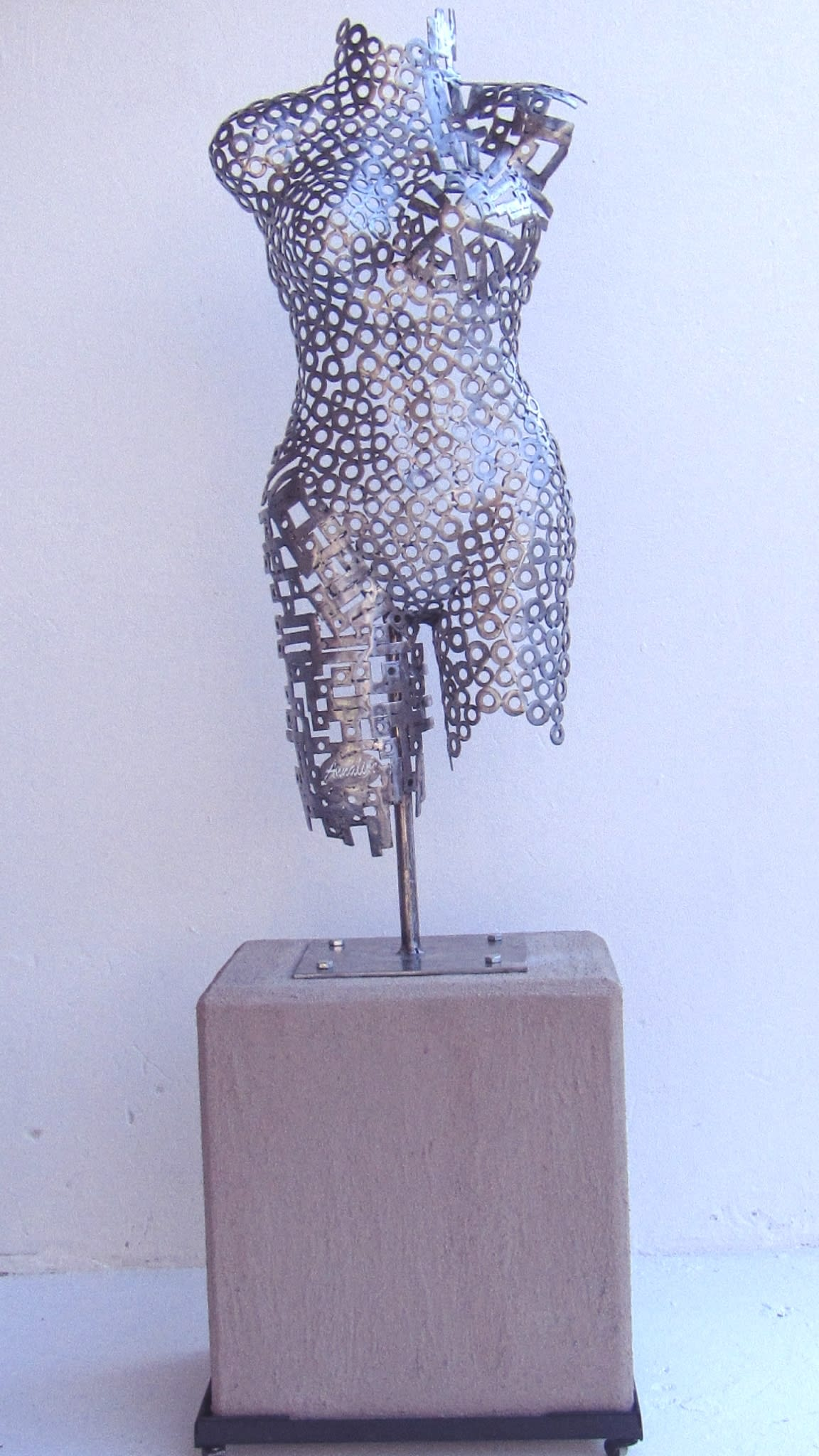 <span class=&#34;link fancybox-details-link&#34;><a href=&#34;/artworks/categories/68/2831-annalize-mynhardt-mixed-media-booby-silver-woman-2018/&#34;>View Detail Page</a></span><div class=&#34;artist&#34;><strong>Annalize Mynhardt</strong></div> <div class=&#34;title&#34;><em>Mixed Media Booby Silver Woman</em>, 2018</div> <div class=&#34;medium&#34;>Steel & Cement/Concrete</div> <div class=&#34;dimensions&#34;>160cm x 45cm x 30cm</div><div class=&#34;price&#34;>R20,000.00</div>