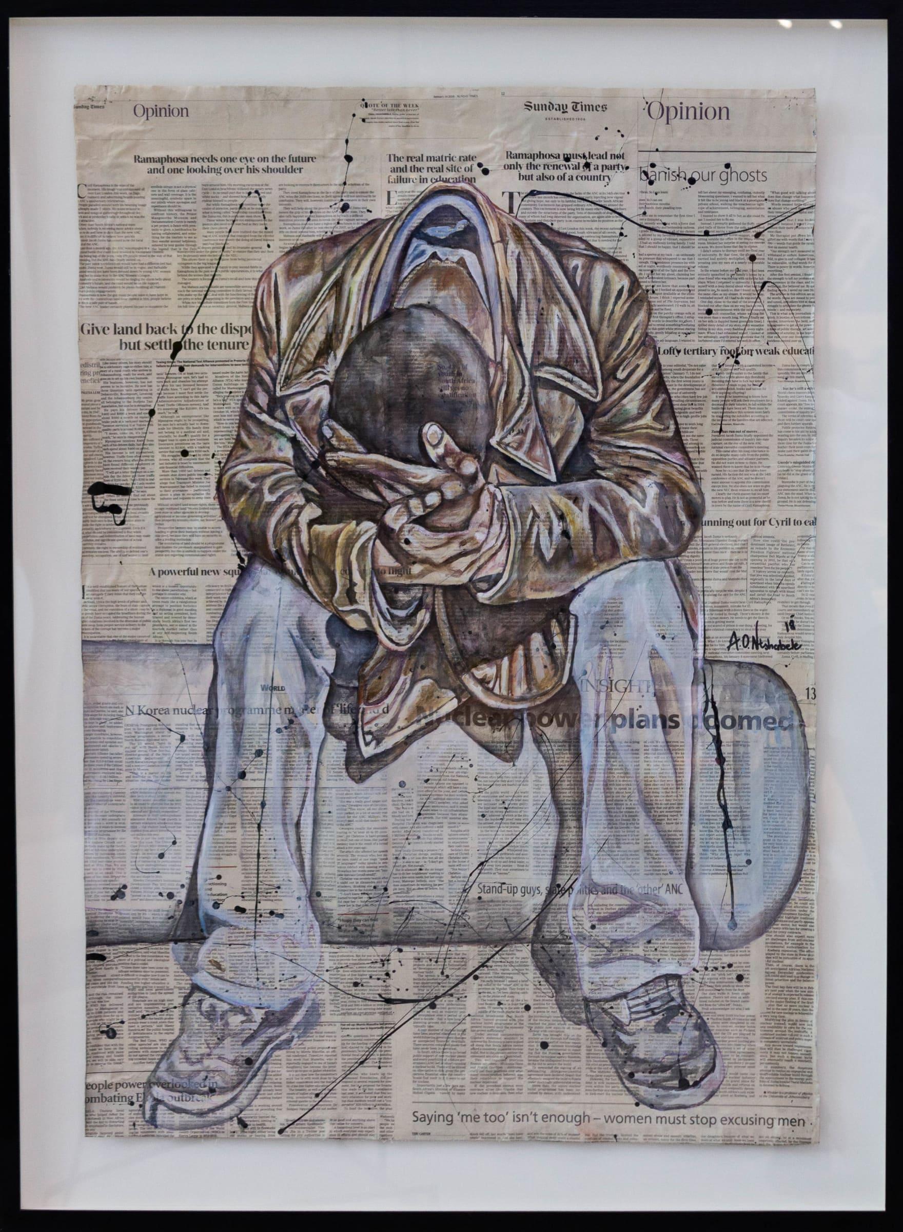 <span class=&#34;link fancybox-details-link&#34;><a href=&#34;/artworks/276-andrew-ntshabele-contemplation-2018/&#34;>View Detail Page</a></span><div class=&#34;artist&#34;><strong>Andrew Ntshabele</strong></div> <div class=&#34;title&#34;><em>Contemplation</em>, 2018</div> <div class=&#34;medium&#34;>Acrylic & Enamel On Newspaper</div> <div class=&#34;dimensions&#34;>99.5cm x 69.6cm (86.6cm x 116.3cm framed)</div><div class=&#34;price&#34;>R11,200.00</div>