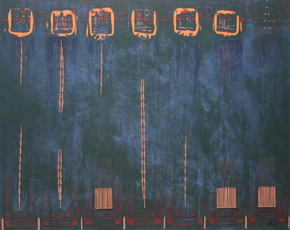 <span class=&#34;link fancybox-details-link&#34;><a href=&#34;/artworks/612-robyn-field-abstraction-2016/&#34;>View Detail Page</a></span><div class=&#34;artist&#34;><strong>Robyn Field</strong></div> <div class=&#34;title&#34;><em>Abstraction</em>, 2016</div> <div class=&#34;medium&#34;>Acrylic and acupuncture needles on board</div> <div class=&#34;dimensions&#34;>41cm x 51cm</div>