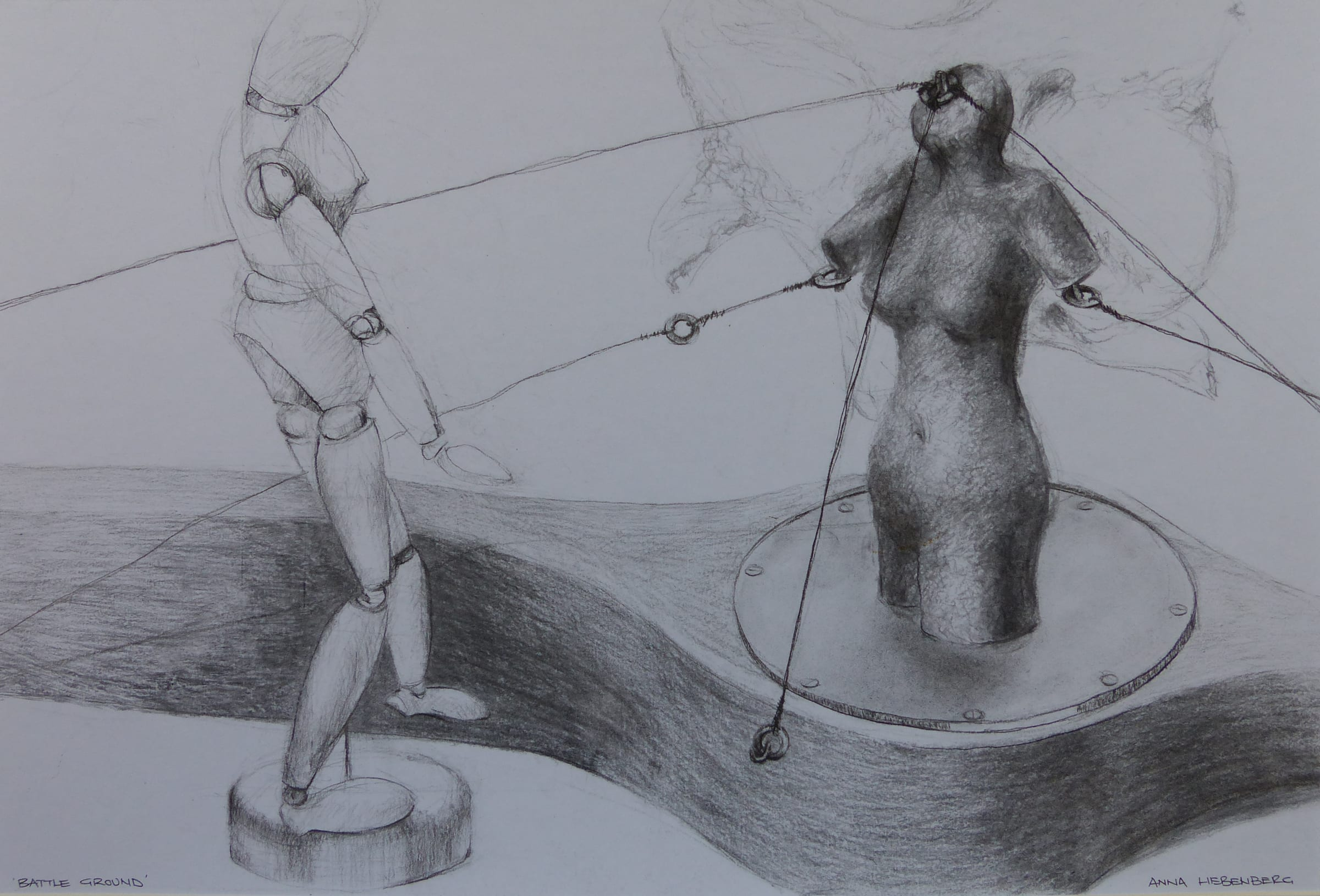 <span class=&#34;link fancybox-details-link&#34;><a href=&#34;/artists/57-anna-liebenberg/works/991-anna-liebenberg-battleground-2015/&#34;>View Detail Page</a></span><div class=&#34;artist&#34;><strong>Anna Liebenberg</strong></div> <div class=&#34;title&#34;><em>Battleground</em>, 2015</div> <div class=&#34;medium&#34;>Charcoal on Cartridge</div> <div class=&#34;dimensions&#34;>38cm x 56cm</div><div class=&#34;price&#34;>R4,200.00</div>