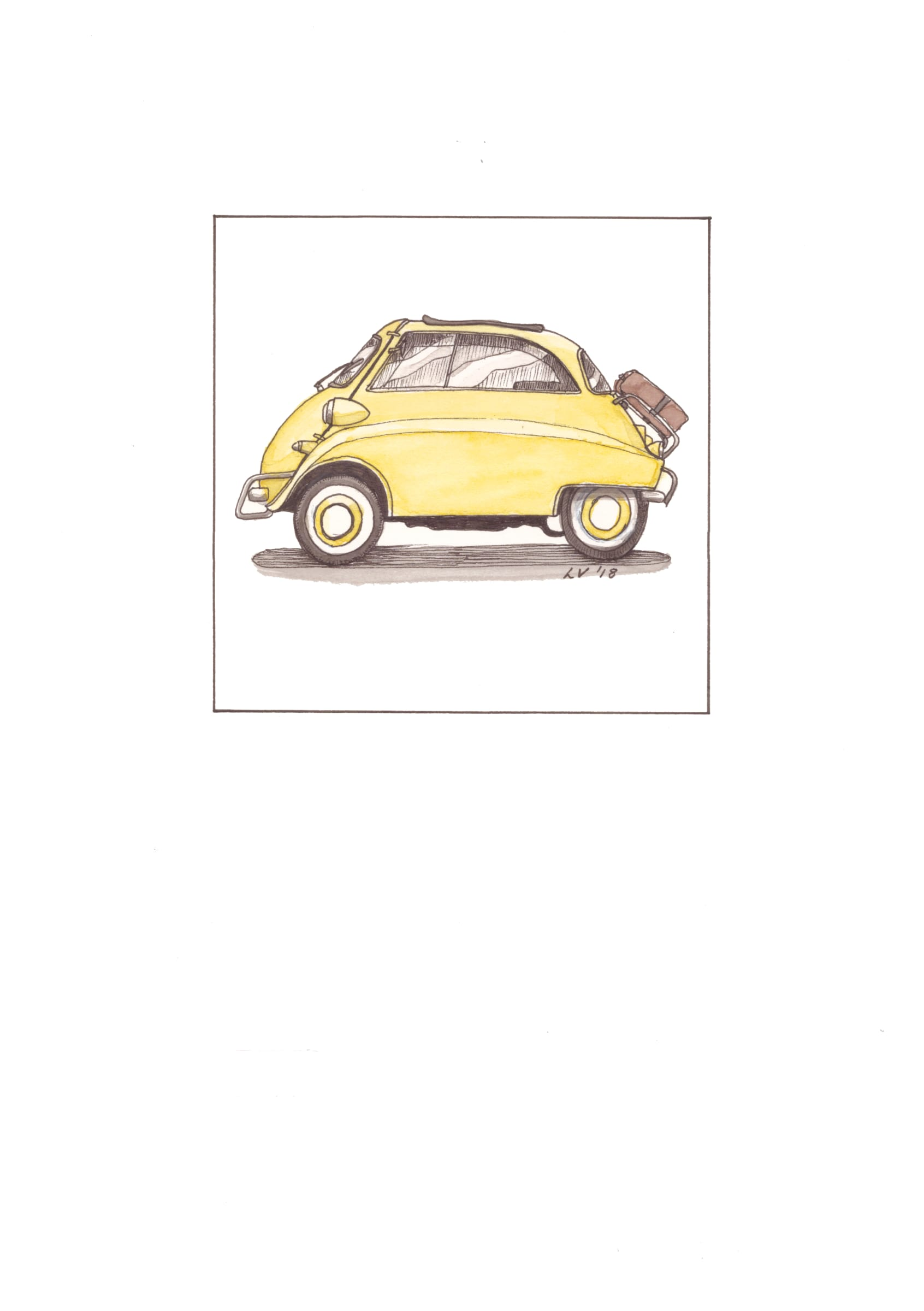 <span class=&#34;link fancybox-details-link&#34;><a href=&#34;/artists/71-leonora-venter/works/2258-leonora-venter-bmw-isetta-2018/&#34;>View Detail Page</a></span><div class=&#34;artist&#34;><strong>Leonora Venter</strong></div> <div class=&#34;title&#34;><em>Bmw Isetta</em>, 2018</div> <div class=&#34;medium&#34;>Coloured Ink On Paper</div> <div class=&#34;dimensions&#34;>14.5cm x 10.5cm</div><div class=&#34;price&#34;>R600.00</div>